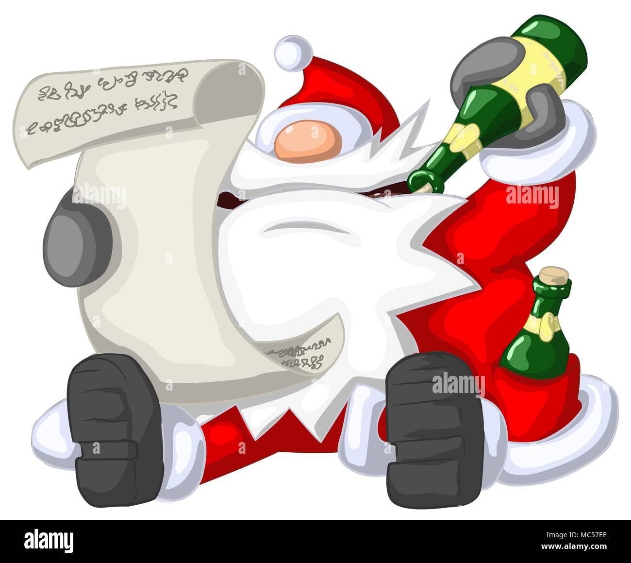 Immagini Natale Umoristiche.Babbo Natale Lettura Festa Di Natale Celebrazione Fumetto