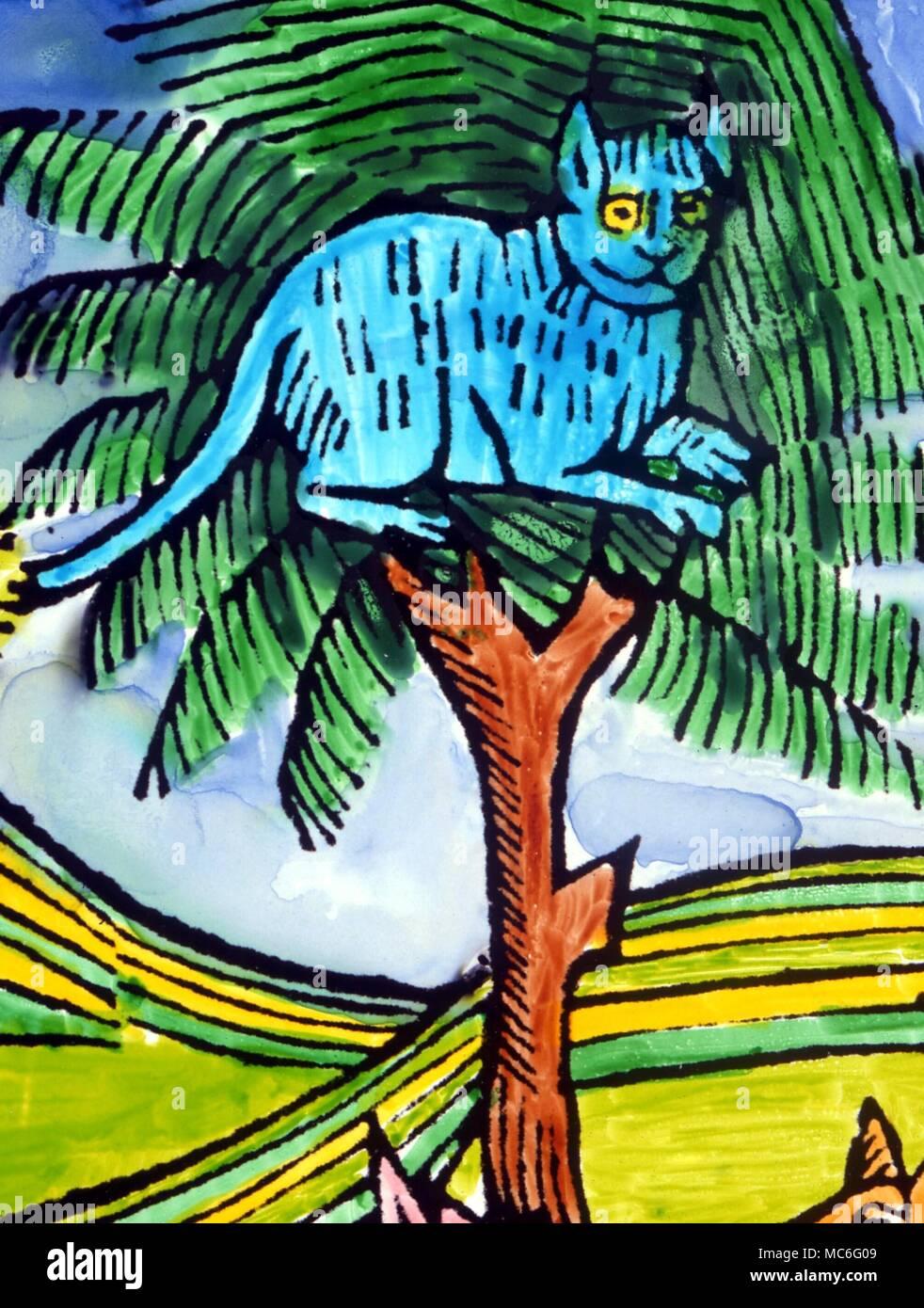 Dettaglio Del Gatto Dal Xvi Secolo Illustrazione Per La Favola Di