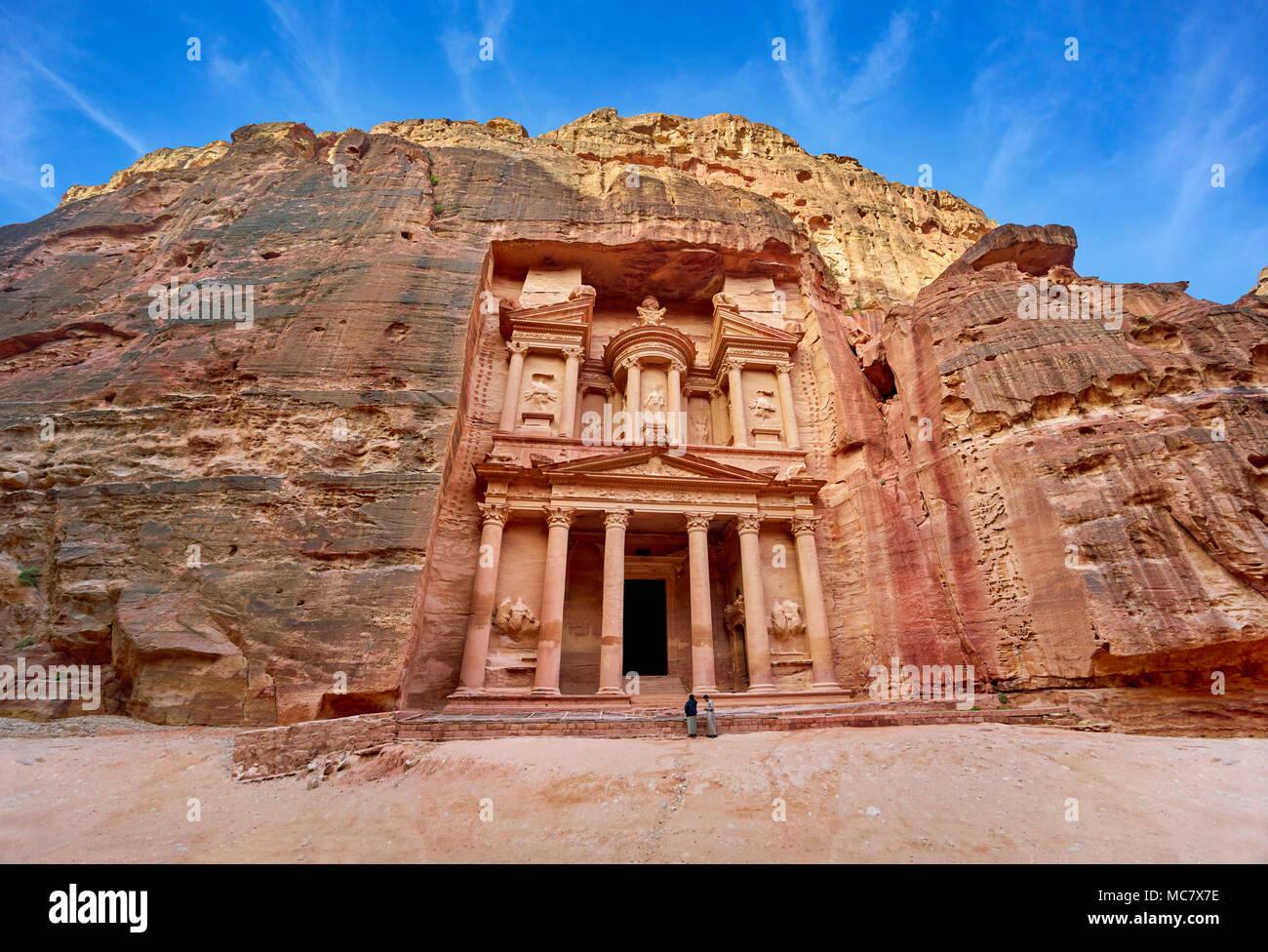Al Tesoro Khazneh, Petra, Giordania Immagini Stock