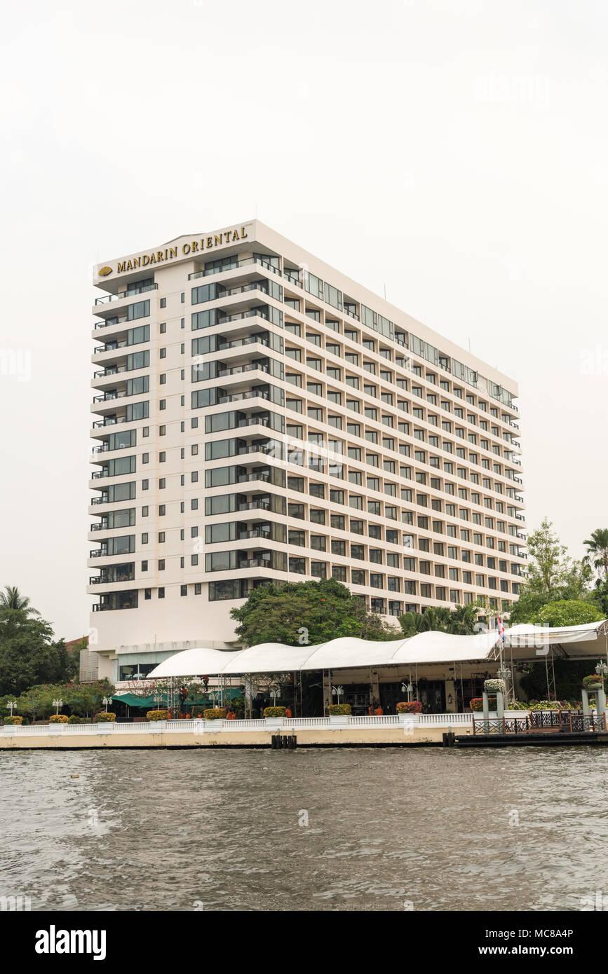 Il Mandarin Oriental Hotel a Bangkok in Tailandia Immagini Stock