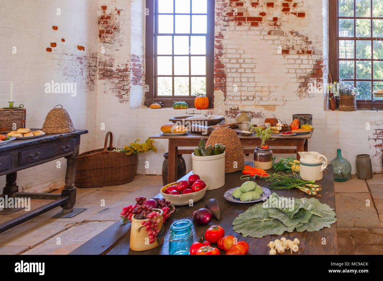 La cucina di Shirley Plantation. Storico di piantagione di Shirley bbc49f96cbb0