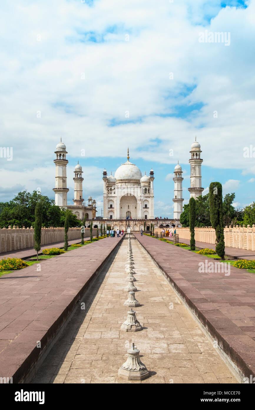 Il Bibi Ka Maqbara mausoleo di Mughal costruito dall'imperatore Mughal Aurangzeb, in Aurangabad, Maharashtra Immagini Stock