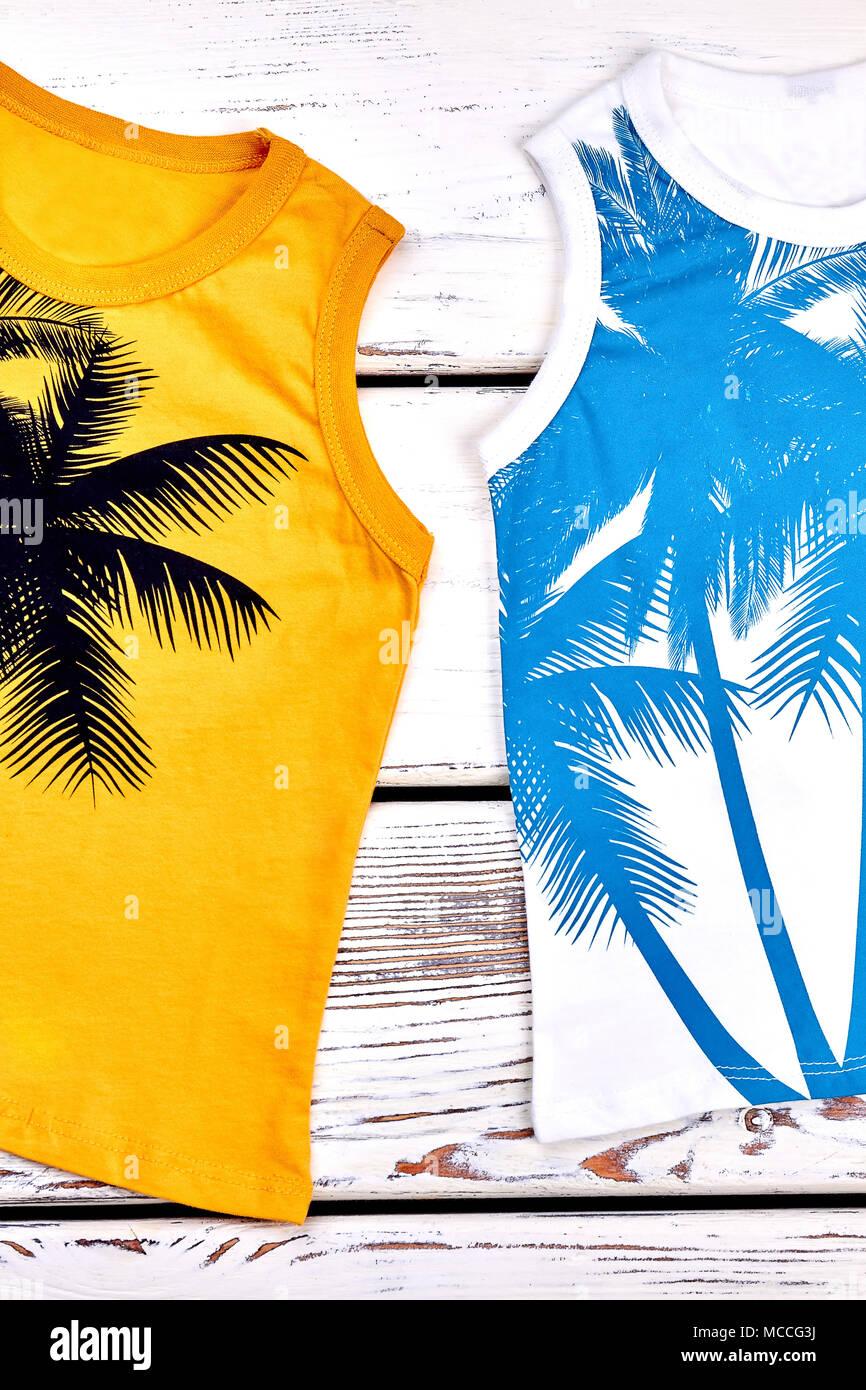 76fa1ac084f2 Ragazzi e ragazze estate moda abbigliamento. Cotone stampato sleeveless t- shirt per bambini