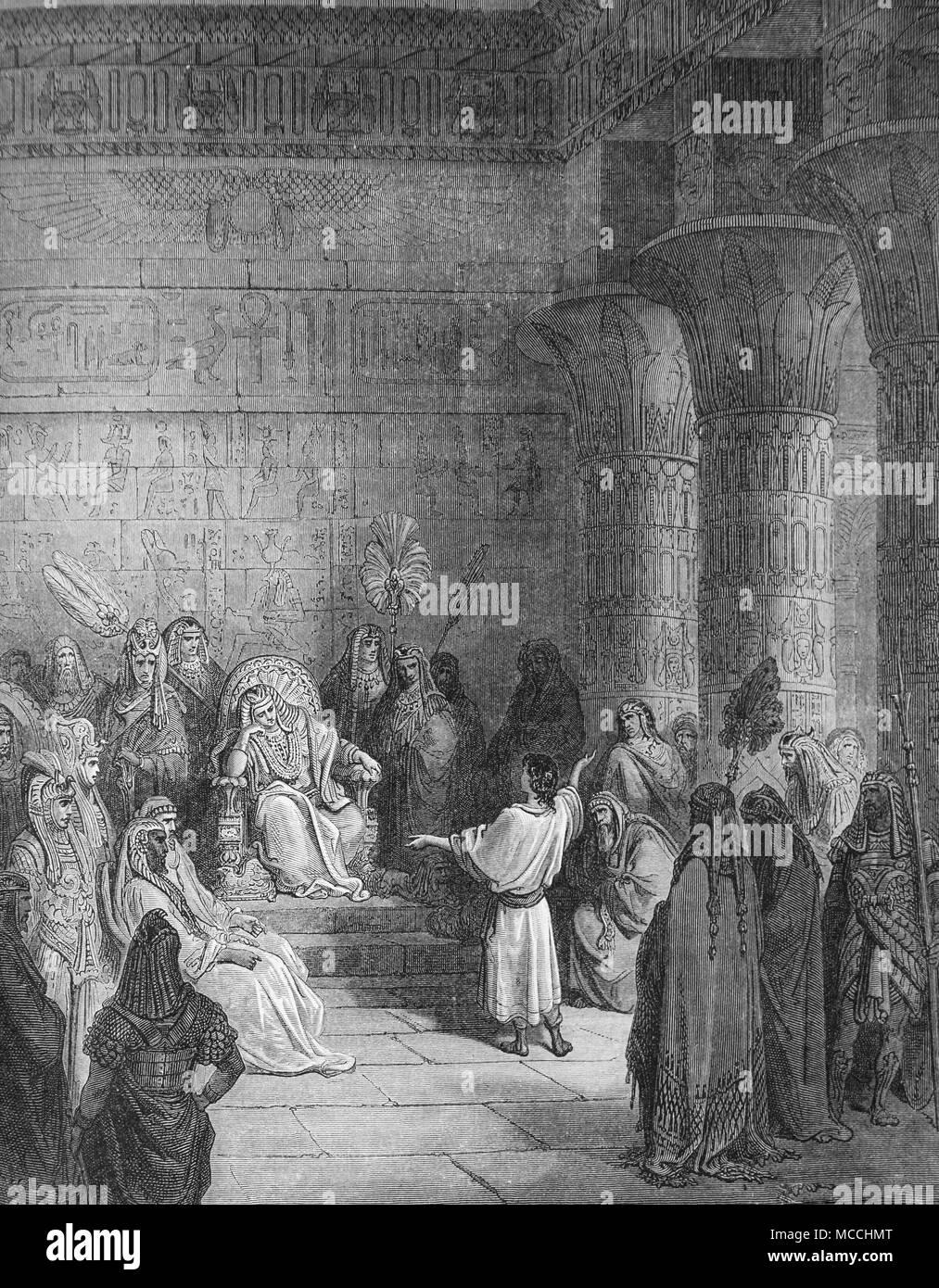 Giuseppe interpretare al Faraone la sogno. La Bibbia illustrazione di Gustave Doré Immagini Stock