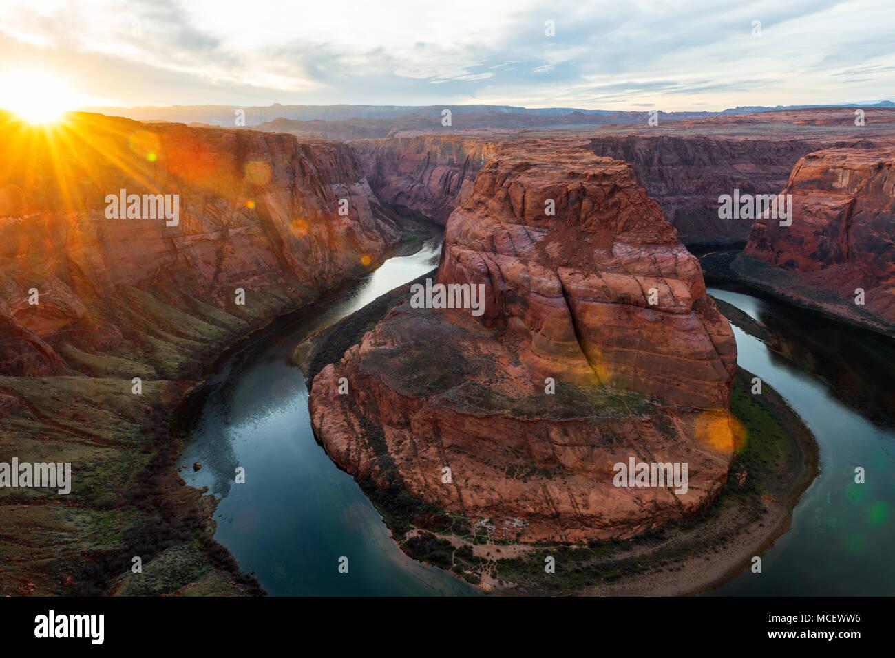 Il Parco Nazionale del Grand Canyon, Arizona USA Immagini Stock