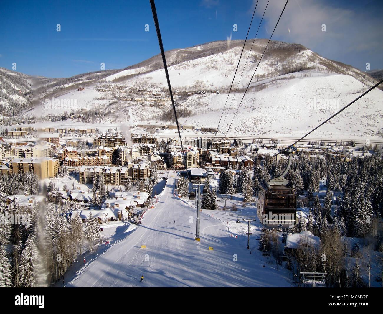 Vail Colorado; ski resort Immagini Stock
