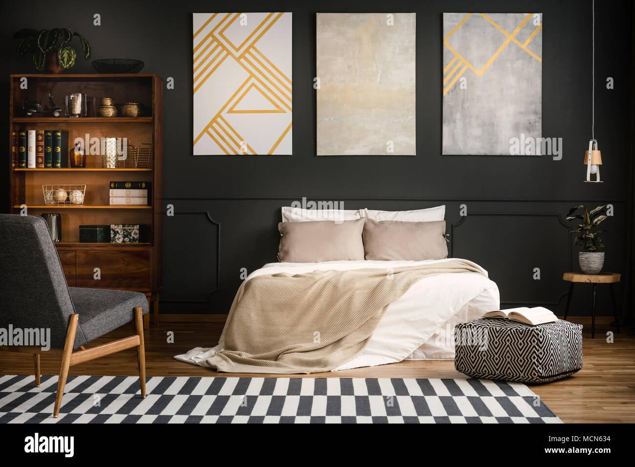 Camera Da Letto Legno Bianco : Moderne in legno interiore camera da letto con letto bianco