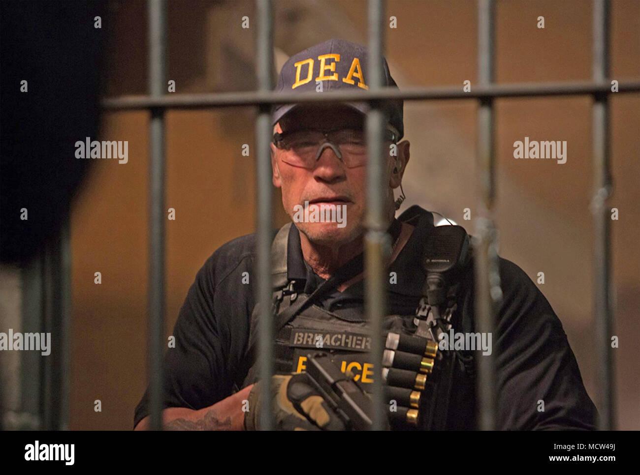 Il sabotaggio 2014 Open Road Films Production con Arnold Schwarzenegger Immagini Stock