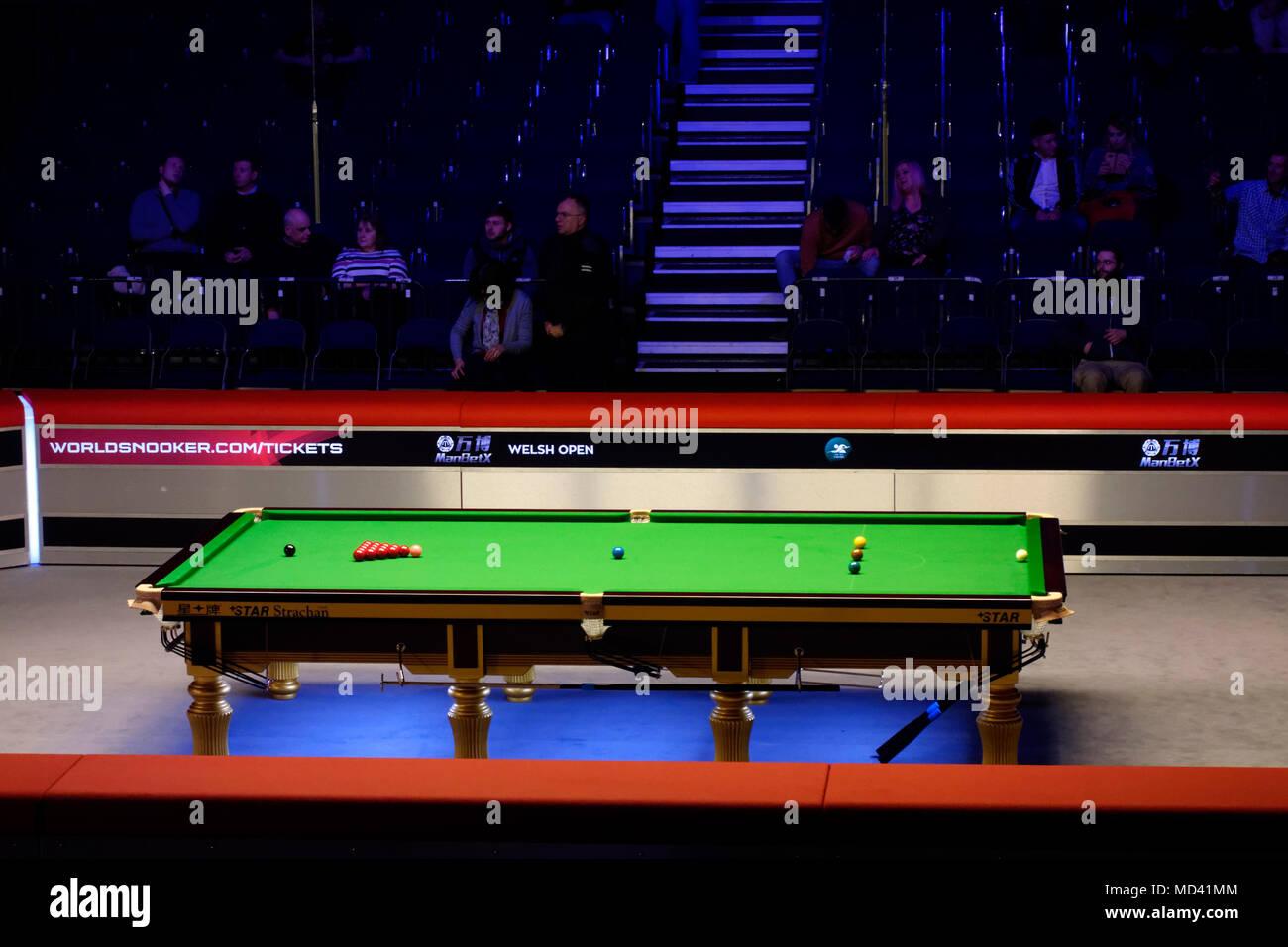 Tavolo da biliardo a Welsh Open Snooker torneo, 2018 Foto & Immagine ...