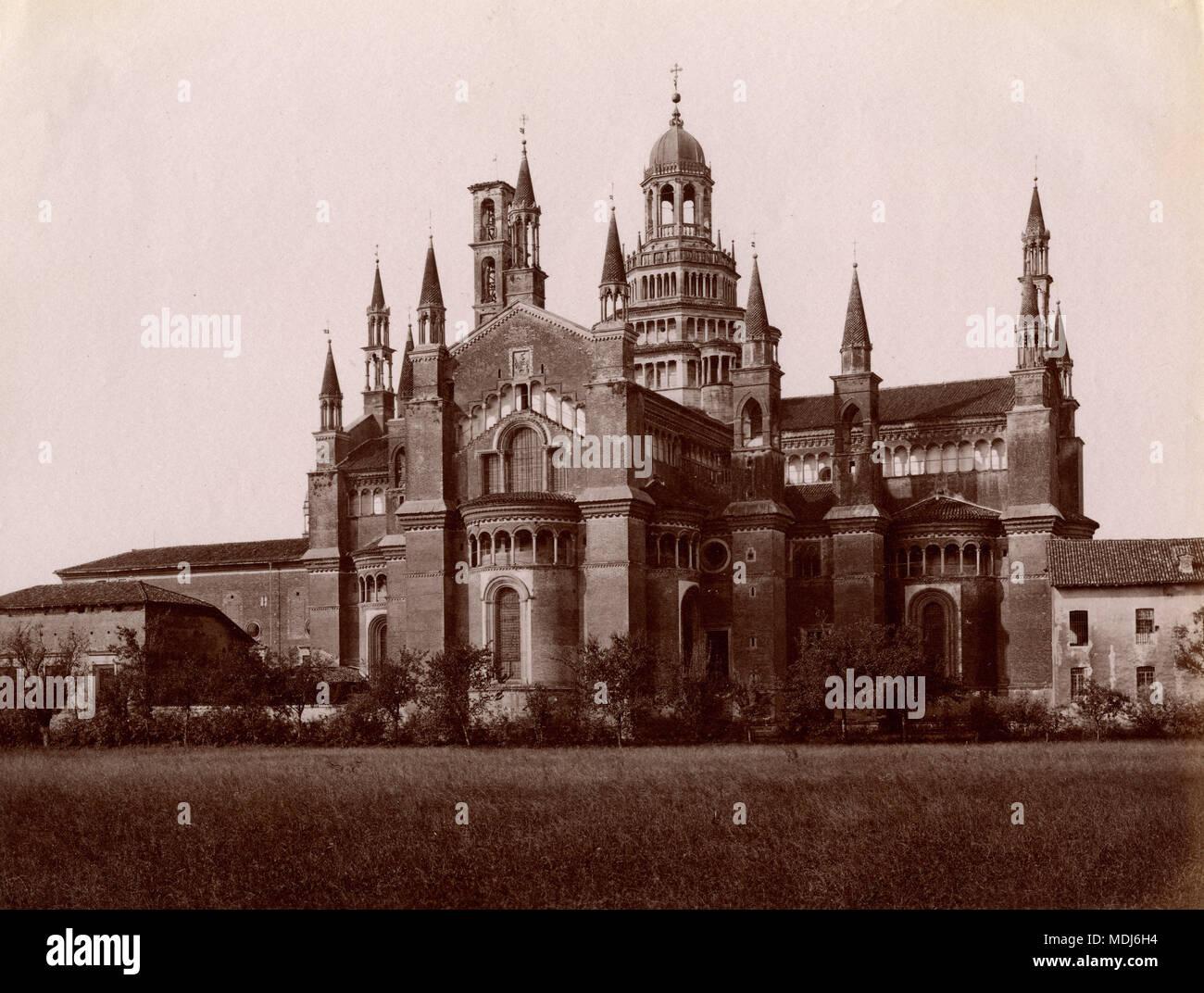 Certosa di Pavia, Italia 1880 Immagini Stock