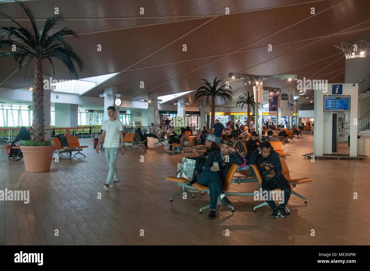 Area di transito, Brunei Aeroporto Internazionale di Bandar Seri Begawan Immagini Stock