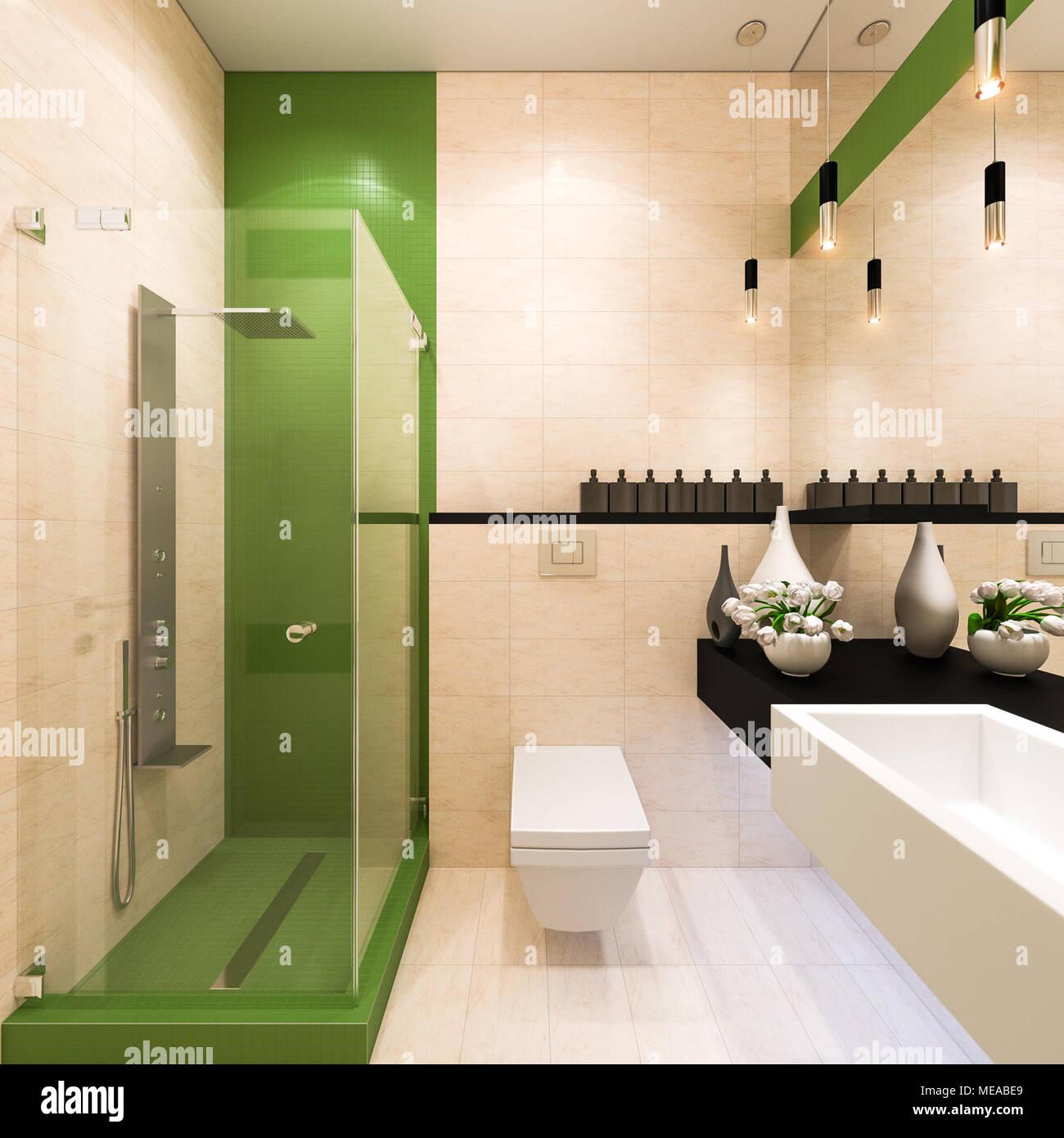 Bagni Moderni Docce Perfect Bagno Con Pavimenti E In Mosaico Idee