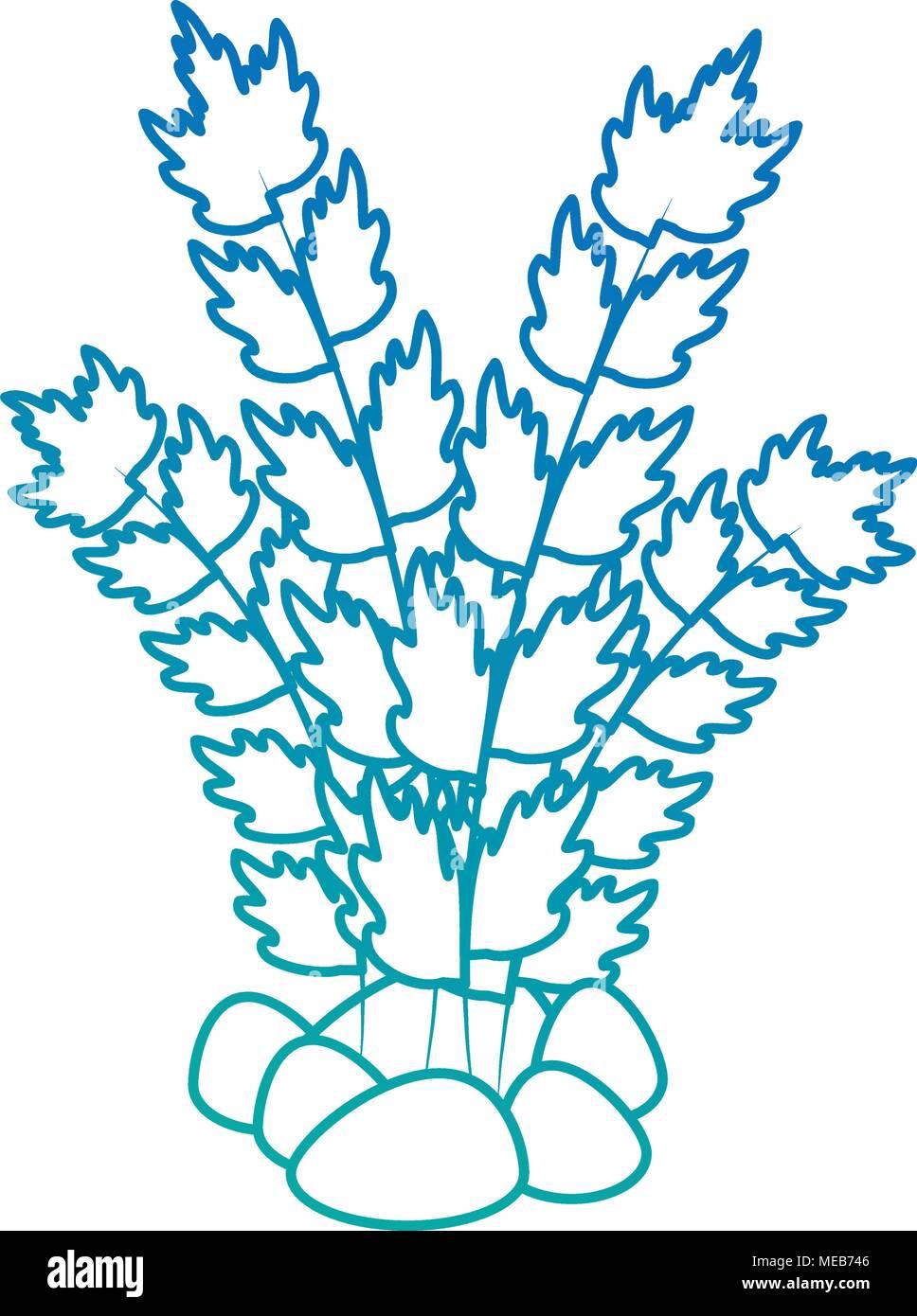 Acquario Decorativo Icona Di Alghe Marine Illustrazione Vettoriale