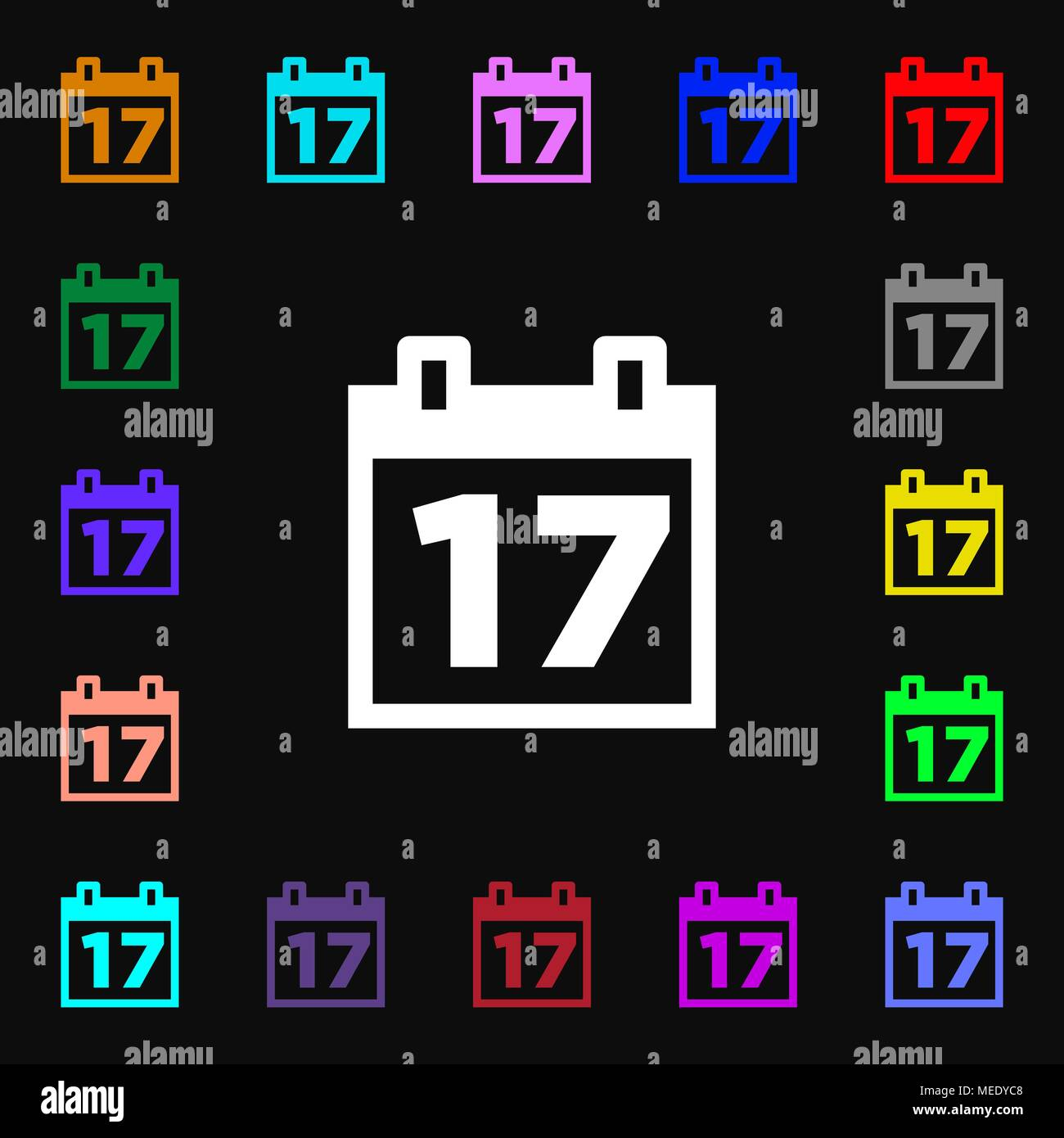 Simboli Luna Calendario.Calendario Data O Un Promemoria Evento Icona Segno Tanti I
