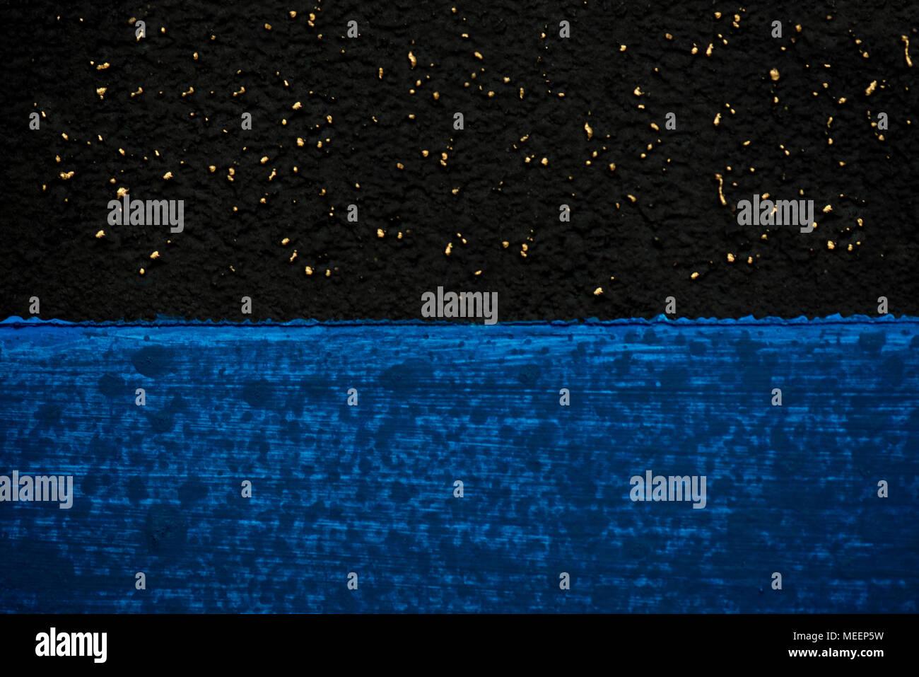 Blu Scuro E Sfondo Nero Cosparso Con Spazzole Cielo Stellato E Mare