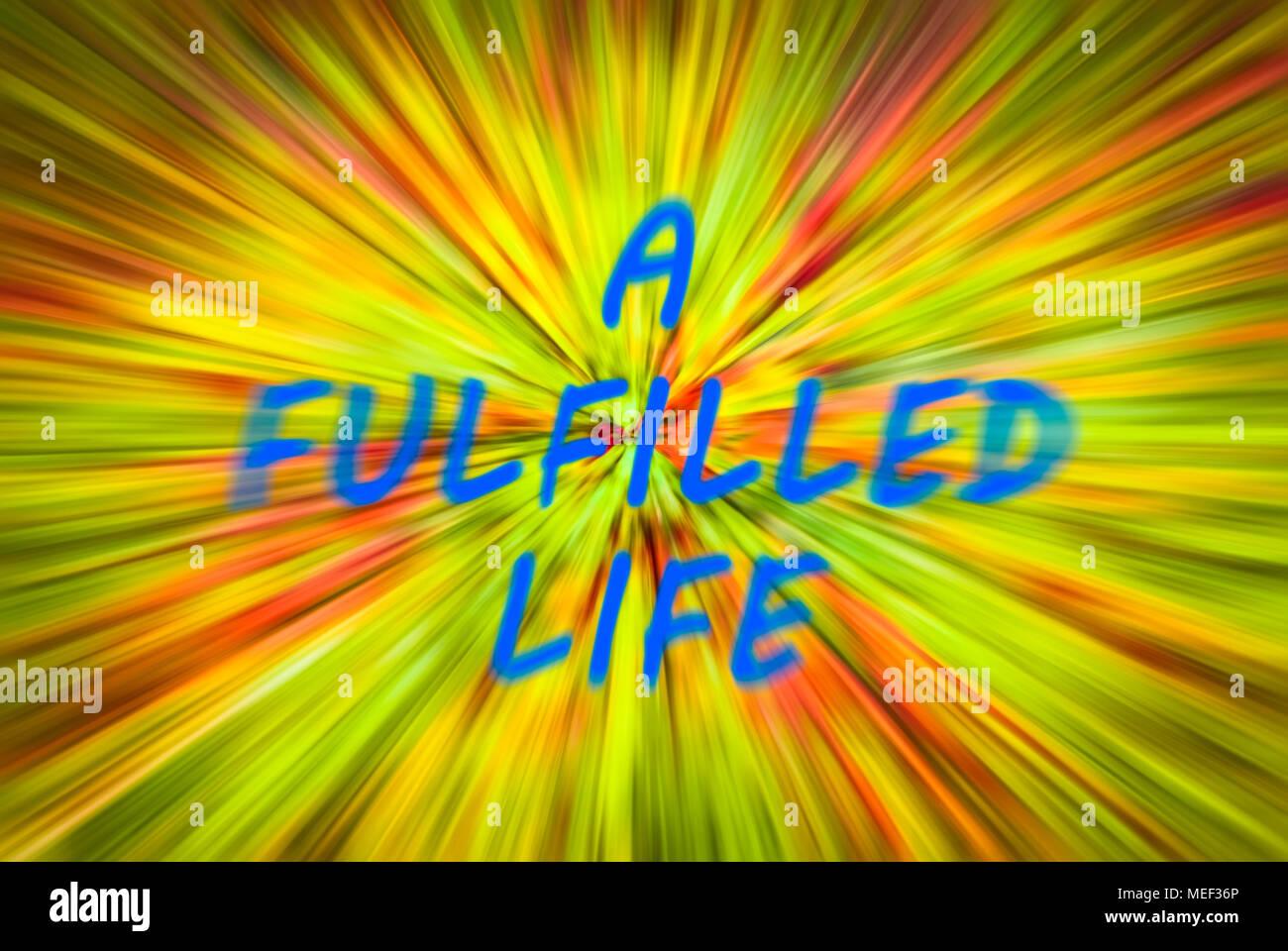 Una vita realizzata su una rapida Abstract Background. Immagini Stock