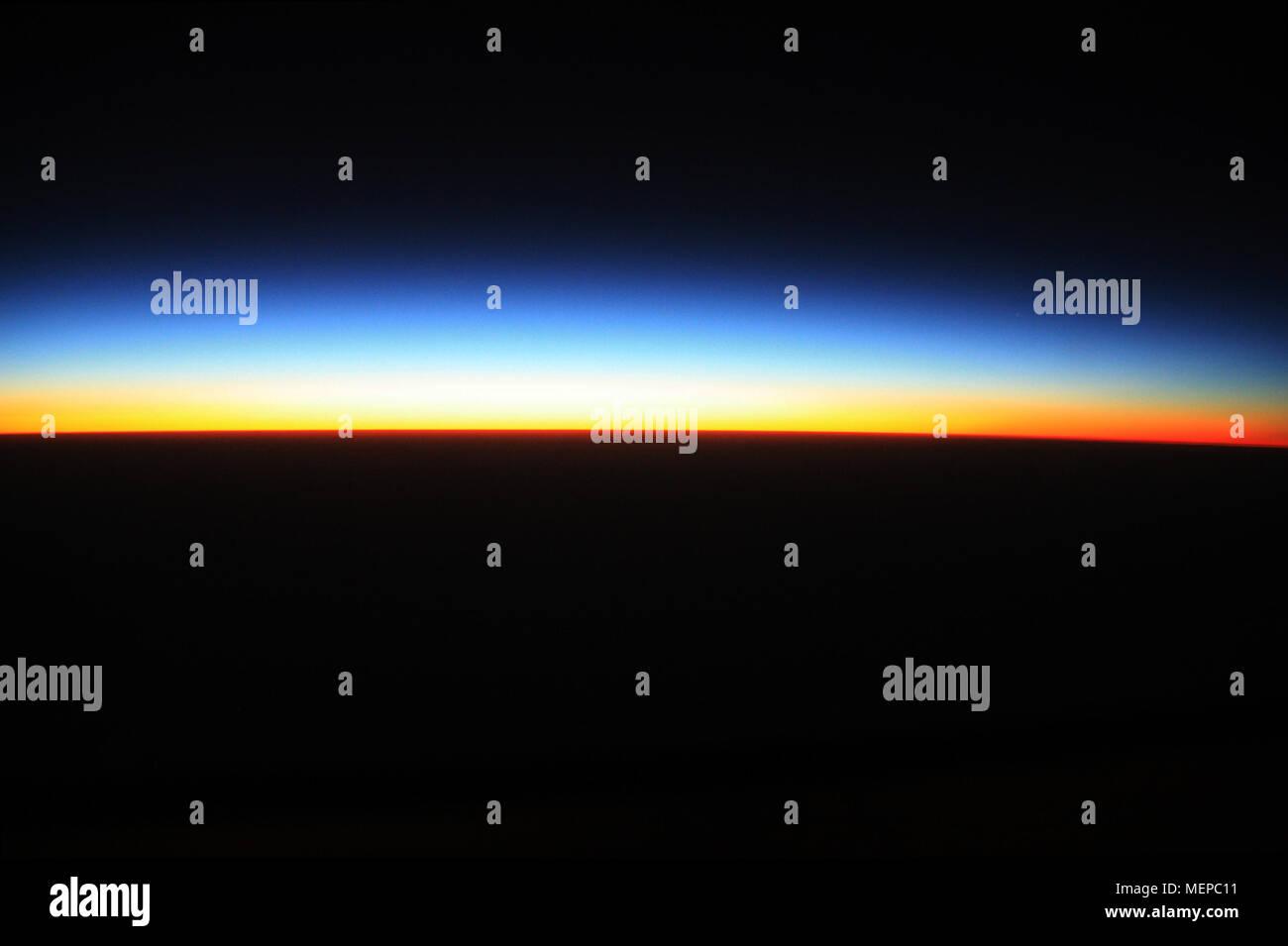 Vista aerea di un bel tramonto overhead il Sahara in Niger Immagini Stock