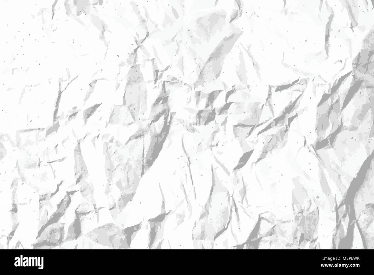 Dot E Grana Carta Sgualcita Texture Dello Sfondo Bianco E Nero