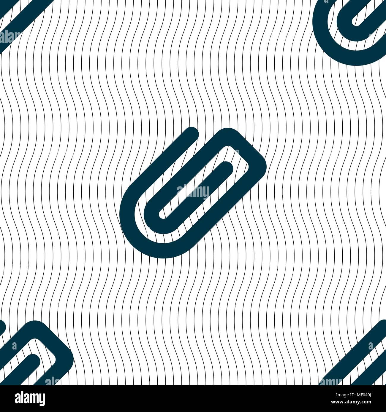 Icona a forma di graffetta segno. Modello senza cuciture con texture geometrica. Illustrazione Vettoriale Illustrazione Vettoriale
