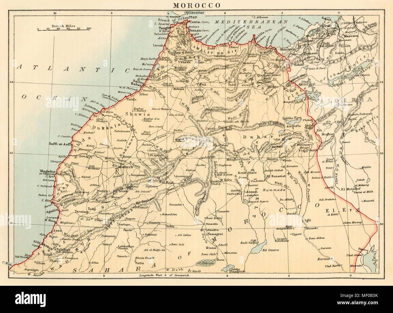 Cartina Dettagliata Marocco
