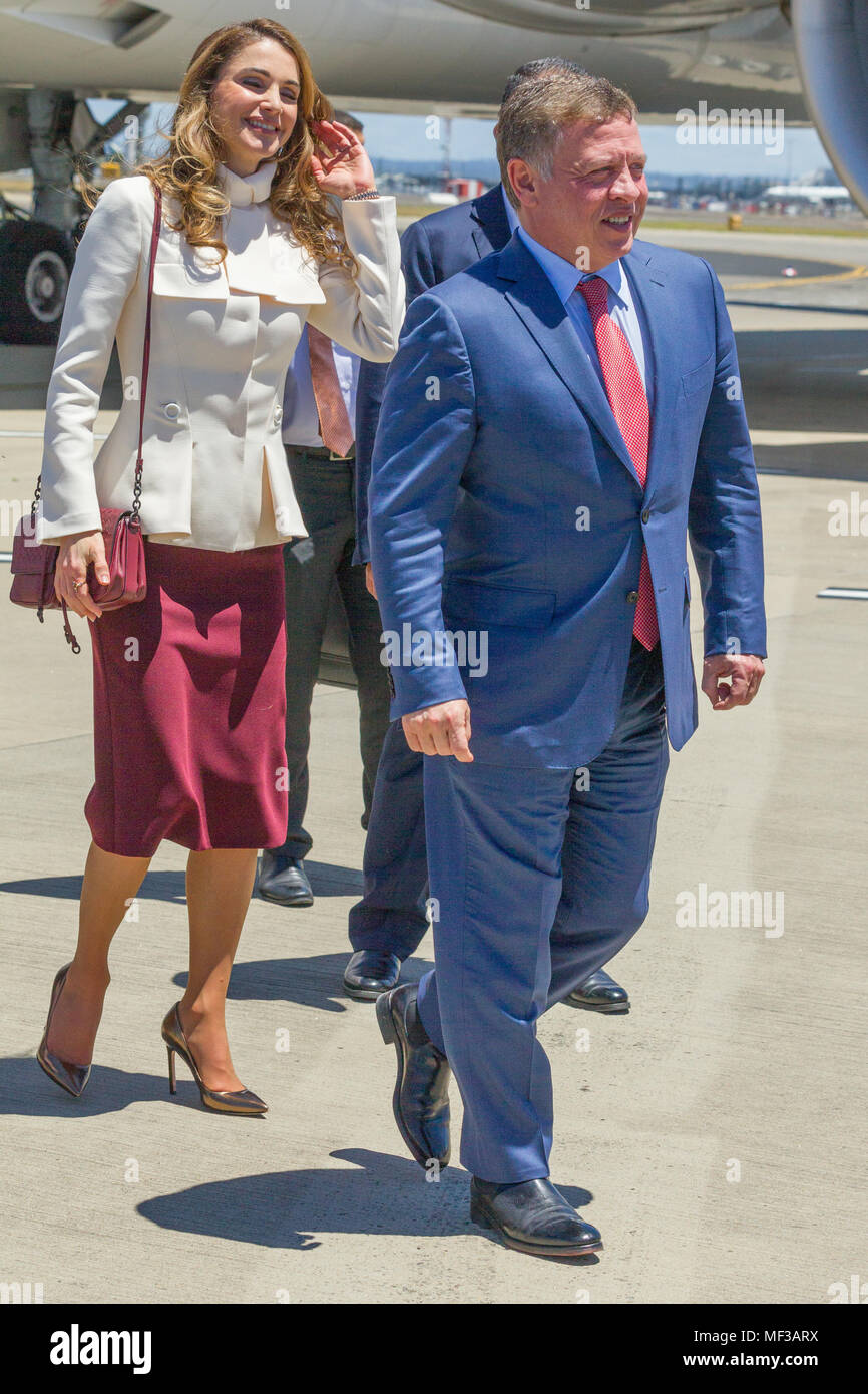 King Abdullah Queen Rania Arrive Immagini E Fotos Stock Alamy