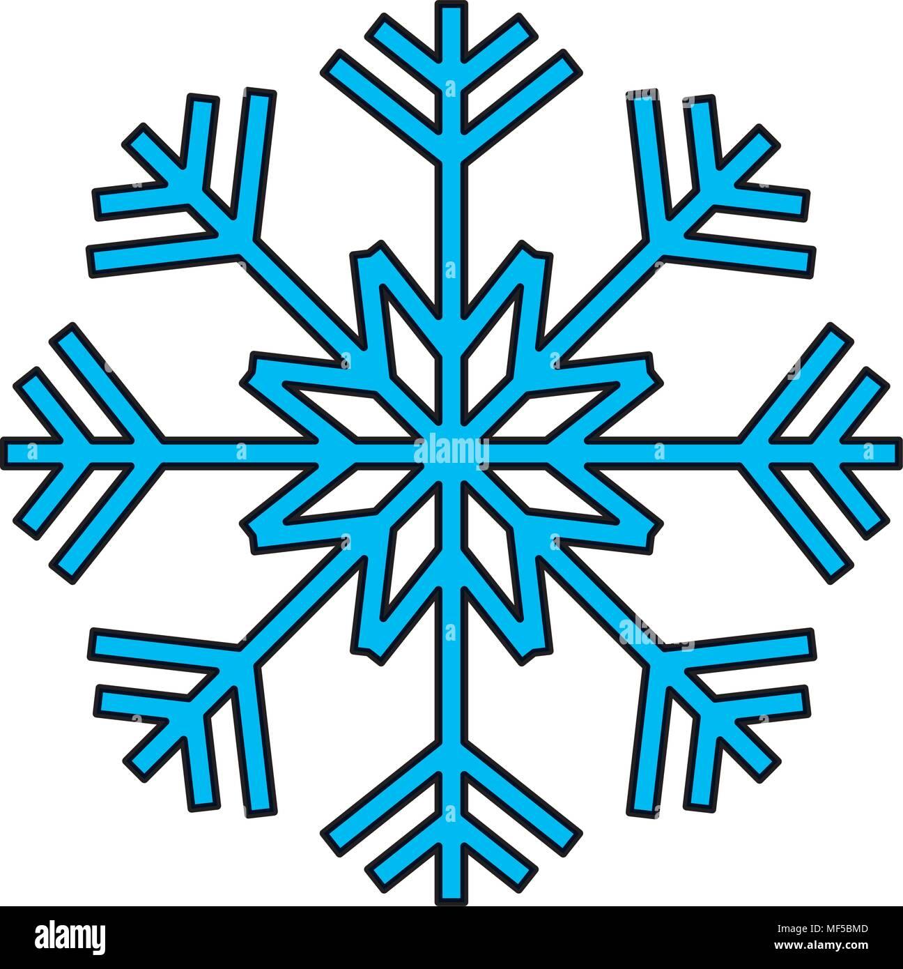 Il colore della natura design fiocco di neve nella stagione invernale Immagini Stock