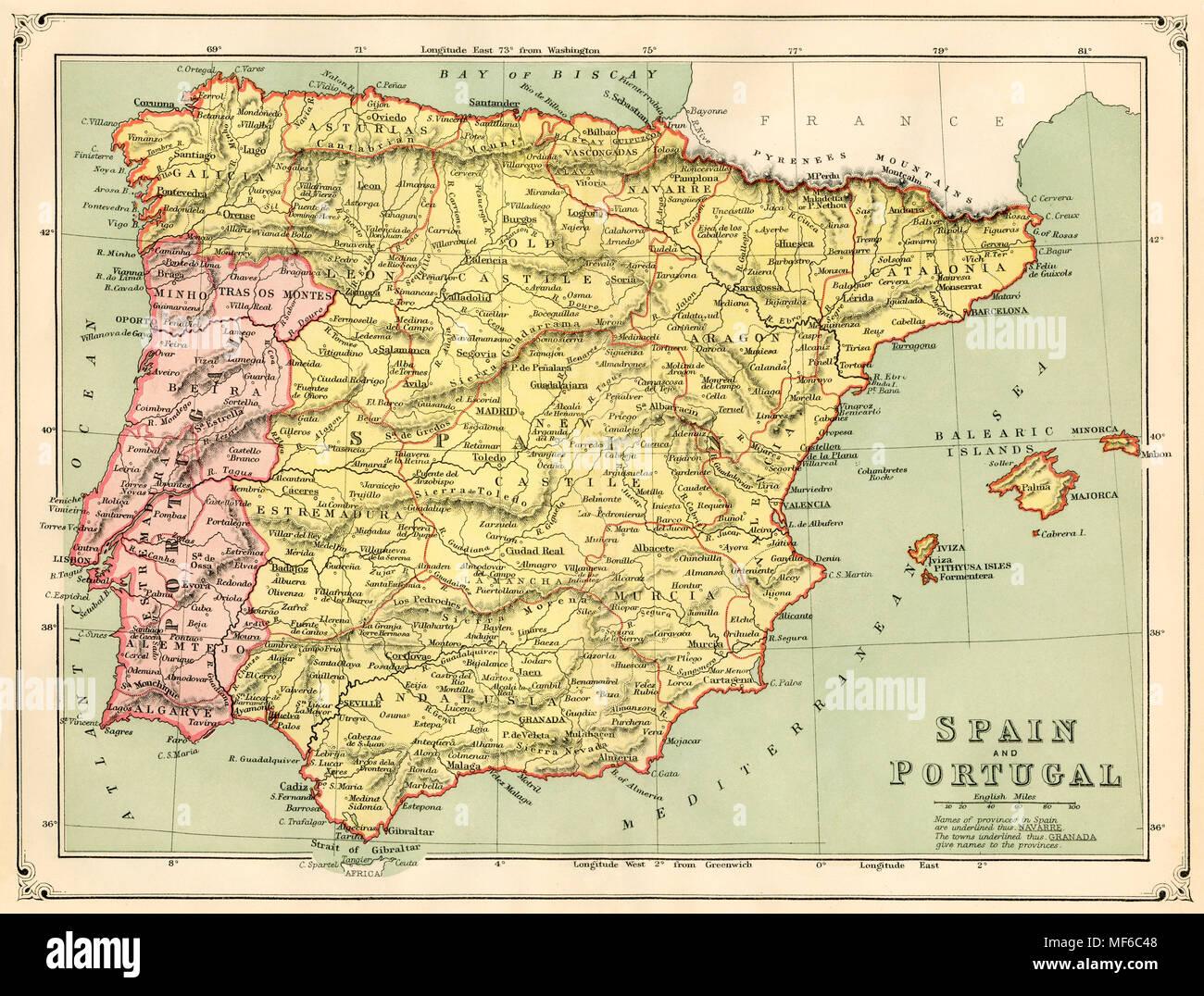 Cartina Portogallo E Spagna.Mappa Del Portogallo Immagini E Fotos Stock Alamy