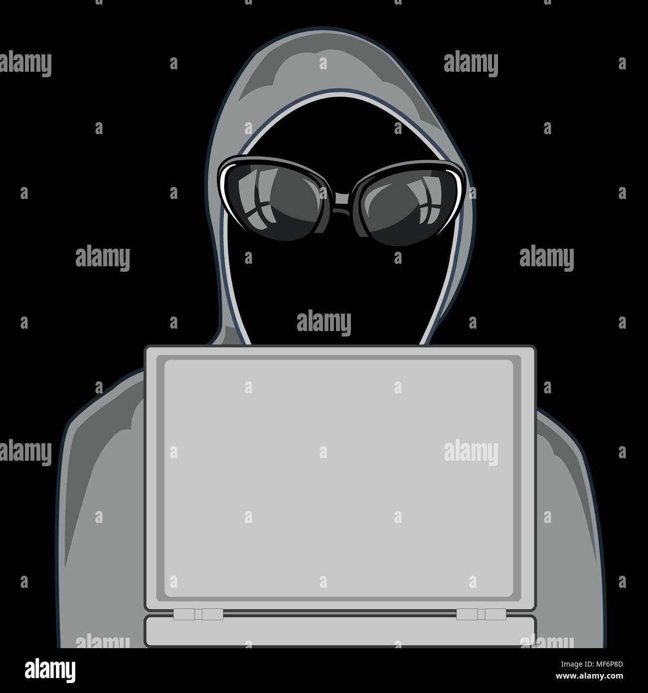 Hacker per computer Immagini Stock