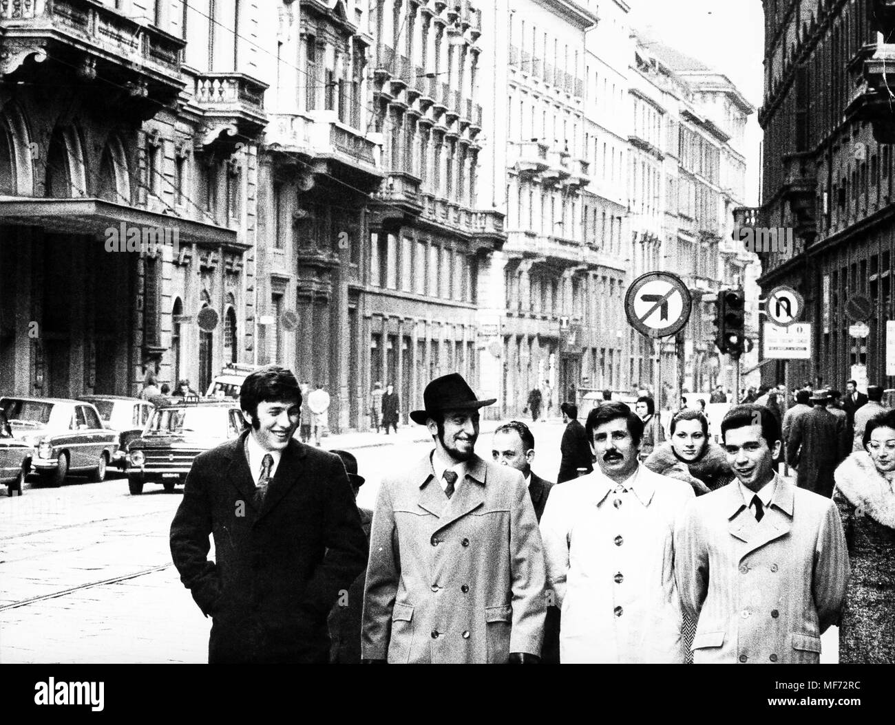 Milano, Italia, 70s Immagini Stock
