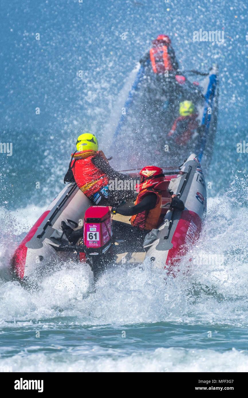 ThunderCat Racing Campionati a Fistral a Newquay in Cornovaglia. Immagini Stock