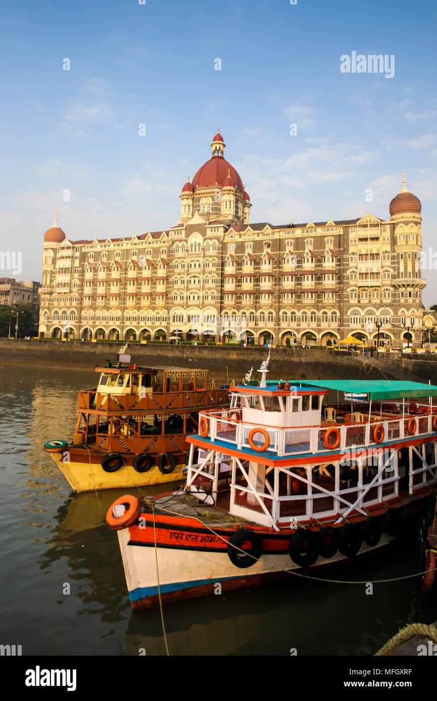 Taj Mahal Palace Hotel, Mumbai, Maharashtra, India, Asia Immagini Stock