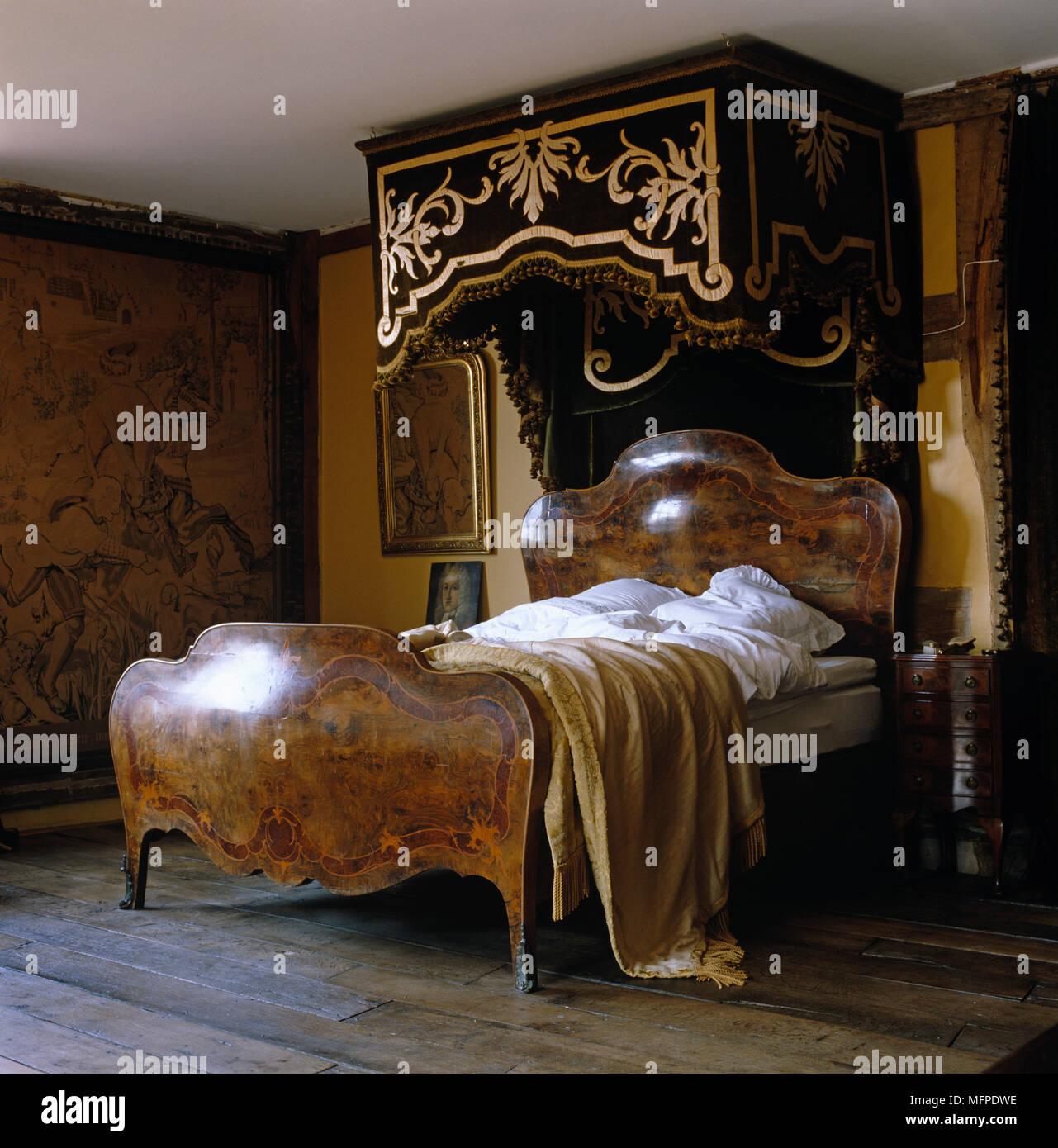 Letto Baldacchino Antico.Impero Antico Letto Matrimoniale Con Baldacchino Decorativi