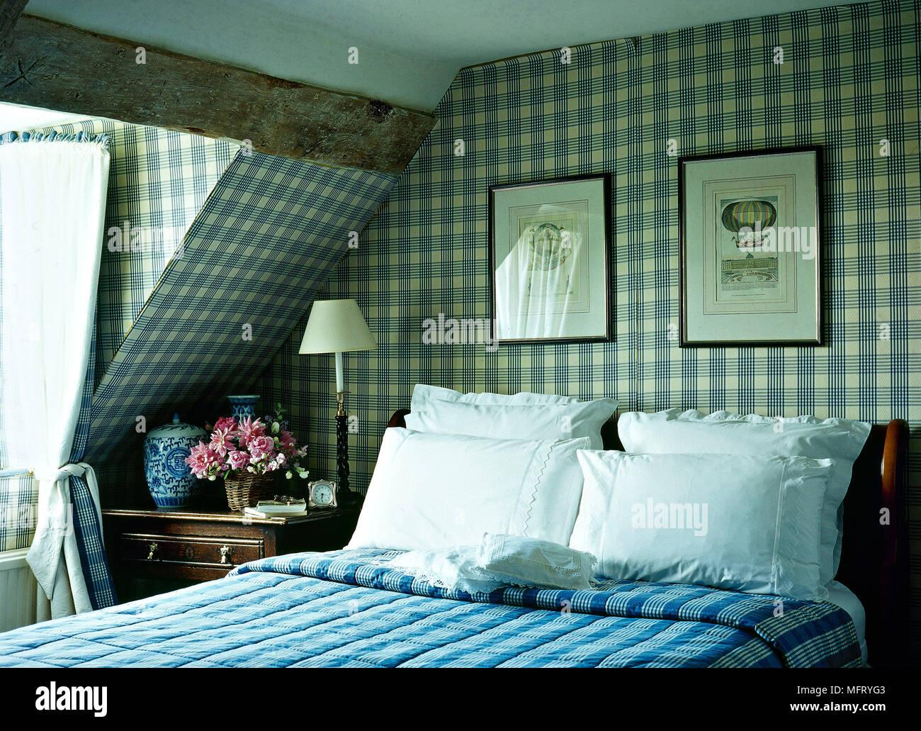 Camera Da Letto Blu : Paese camera da letto blu sfondo pattern soffitti interni letto