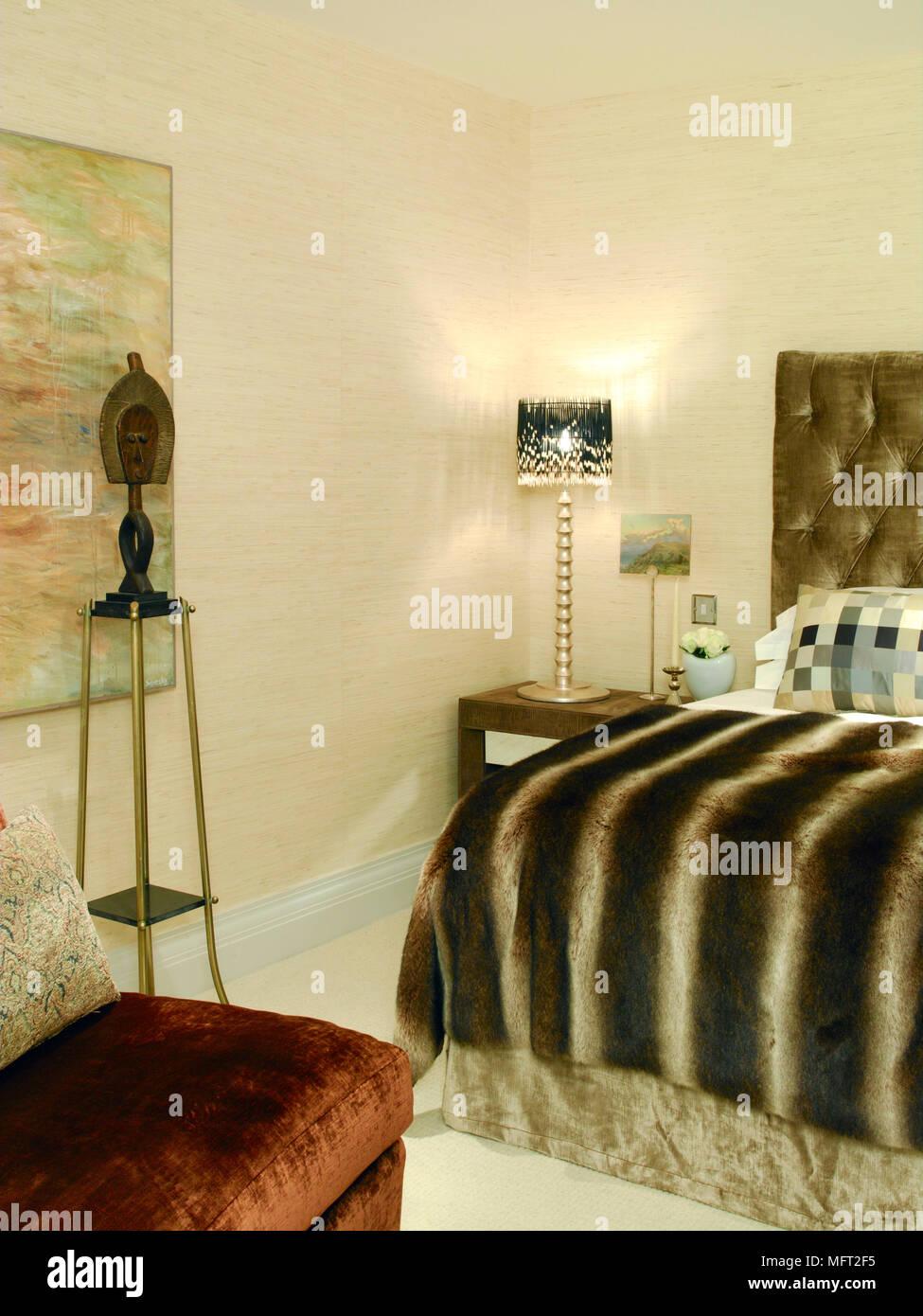 Moderno dettagli camera da letto con un letto doppio ...