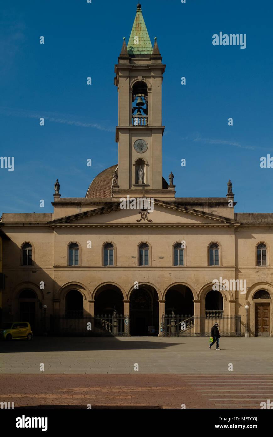 Piazza Masaccio, San Giovanni Valdarno (AR). Toscana Italia Foto Stock