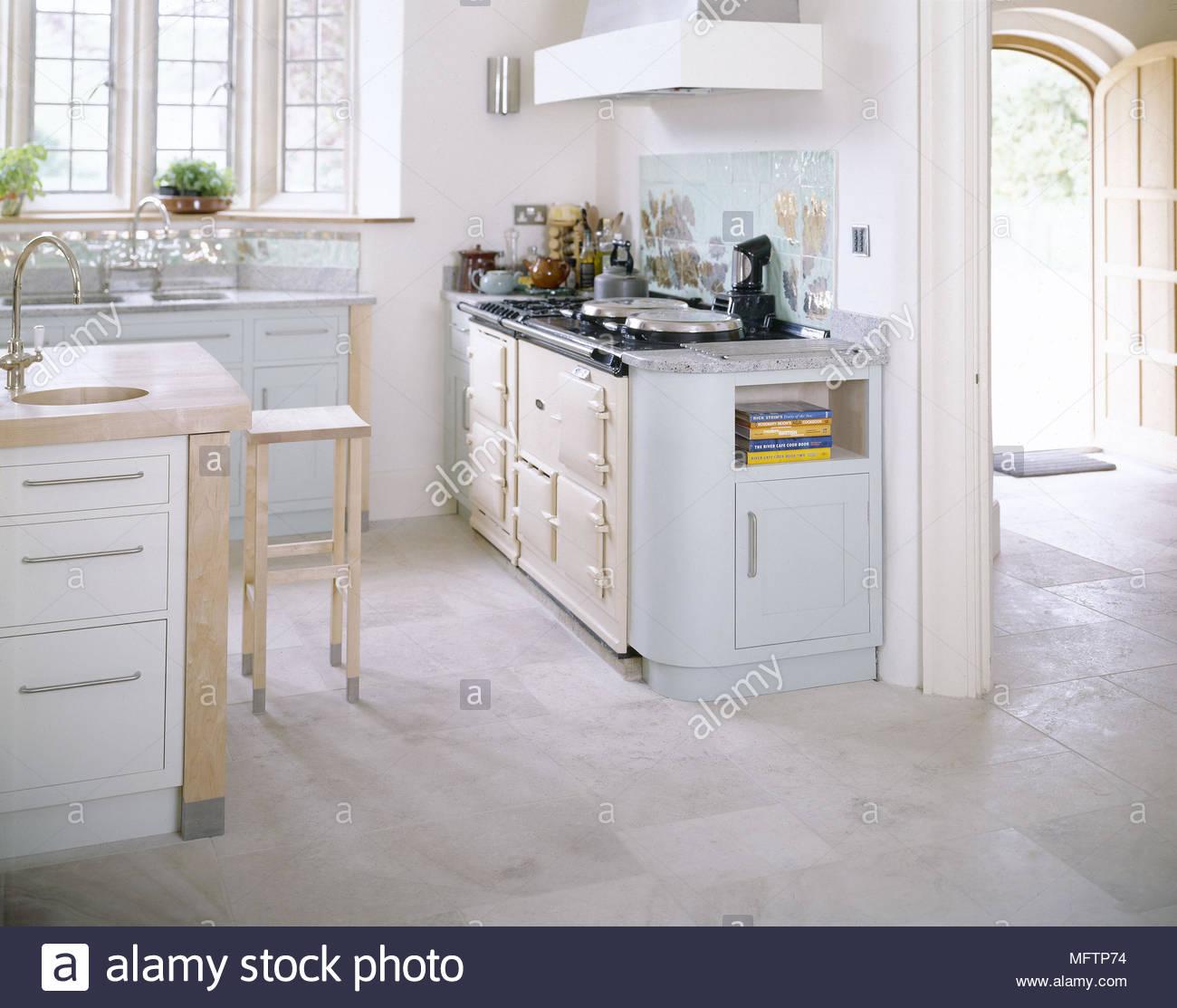 Cucina moderna dettaglio con dipinto di bianco armadi isola centrale ...