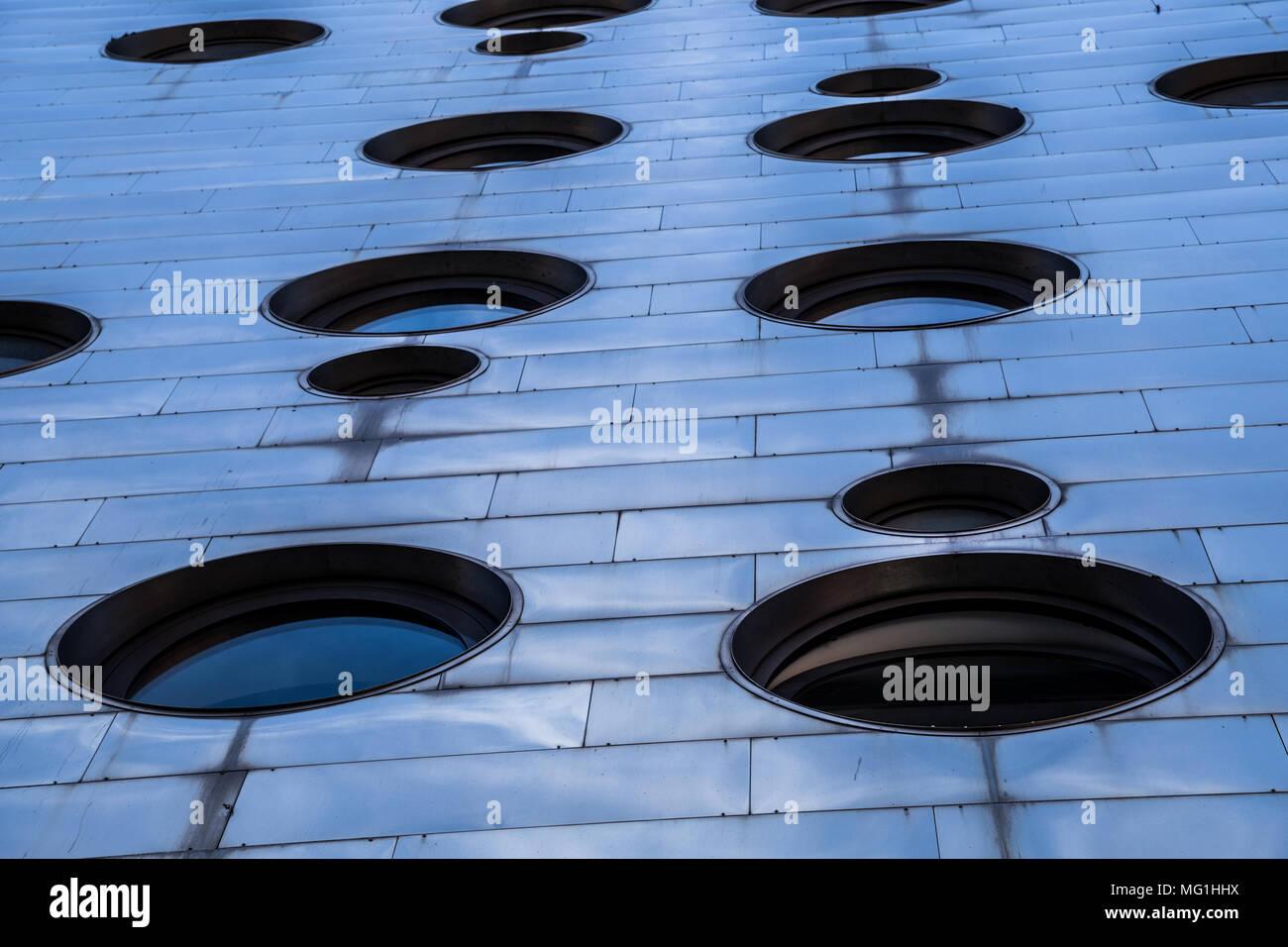 Dream Hotel nel Centro Cittadino di New York City esterno scatti astratti Immagini Stock