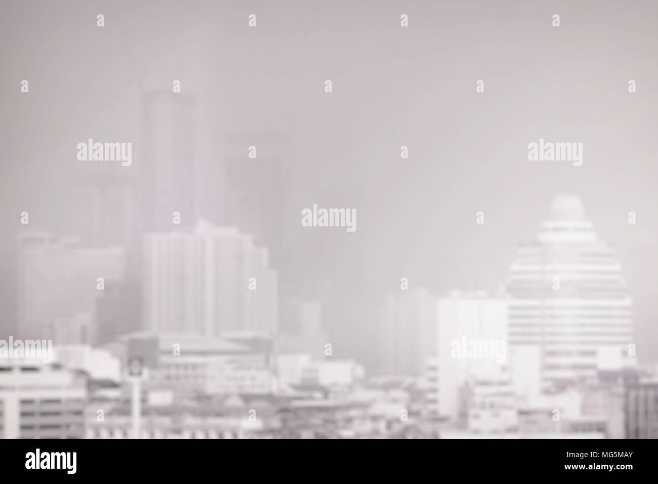 Sfumata In Bianco E Nero Cityscape Sfondo Foto Immagine Stock