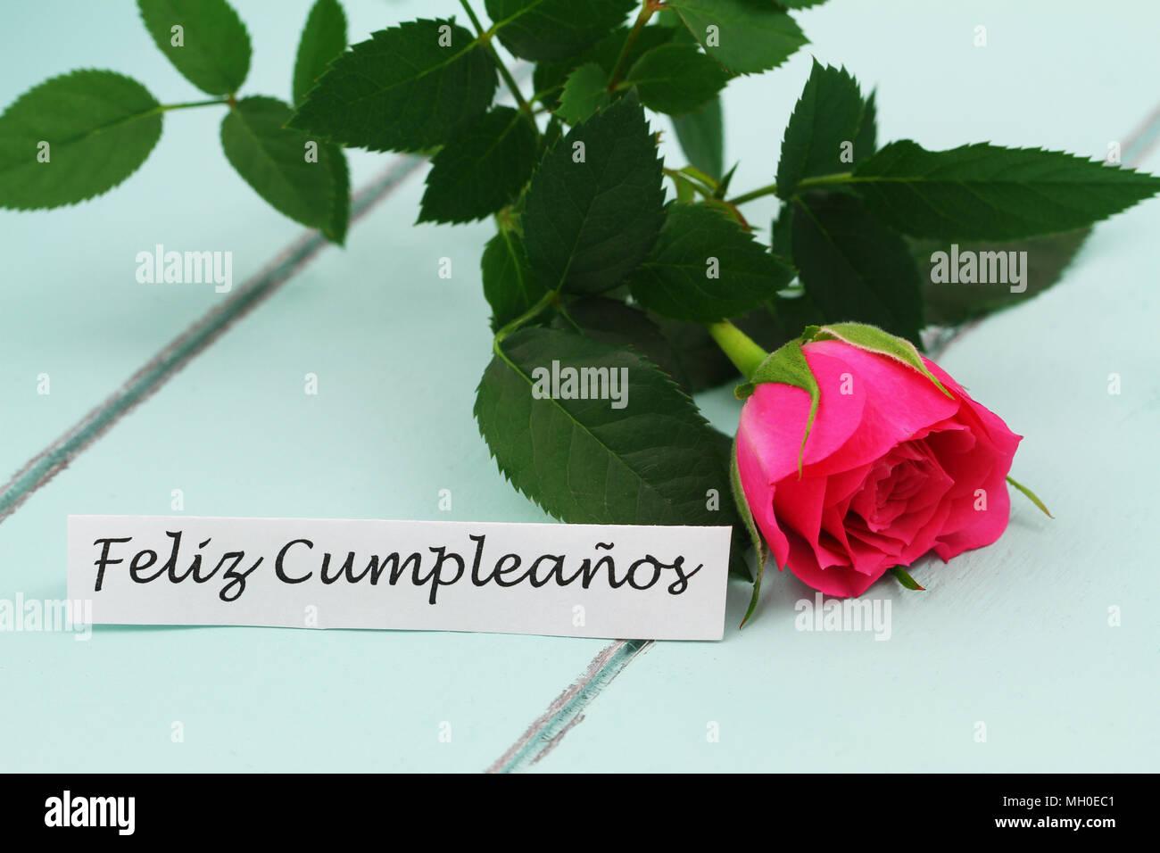 Feliz Cumpleanos (Buon compleanno in spagnolo) la scheda con il