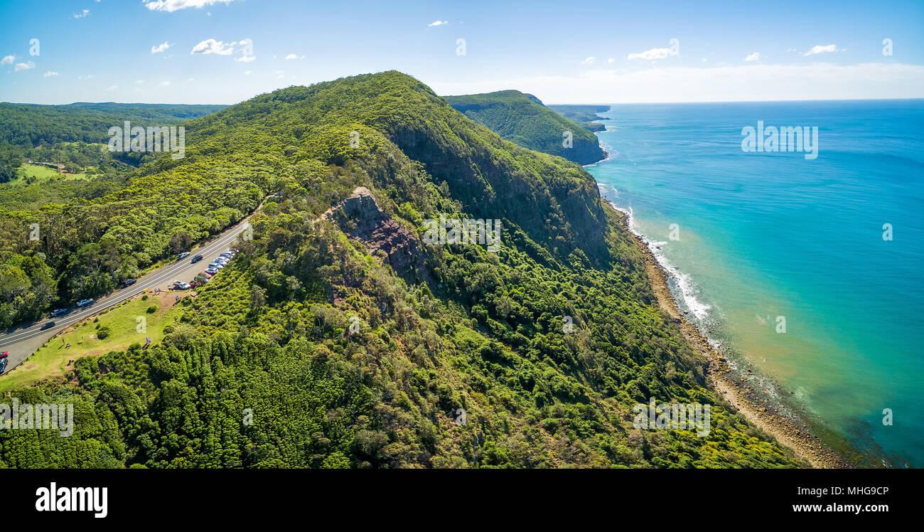 Panoramica aerea di Grand Pacific Drive, Sydney, Australia Foto Stock