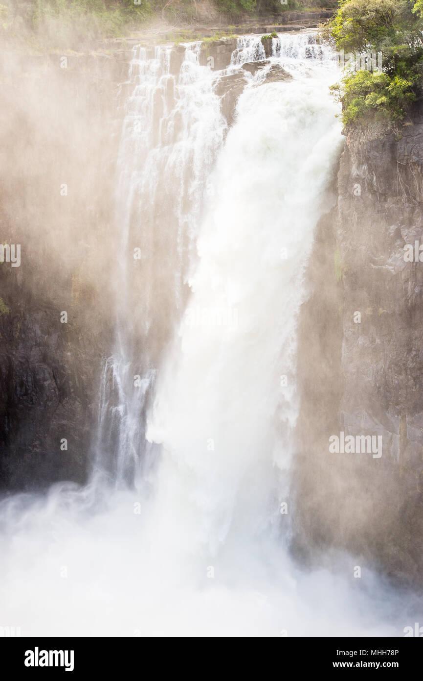 Victoria Falls, fiume Zambesi, Zimbabwe e Zambia Immagini Stock