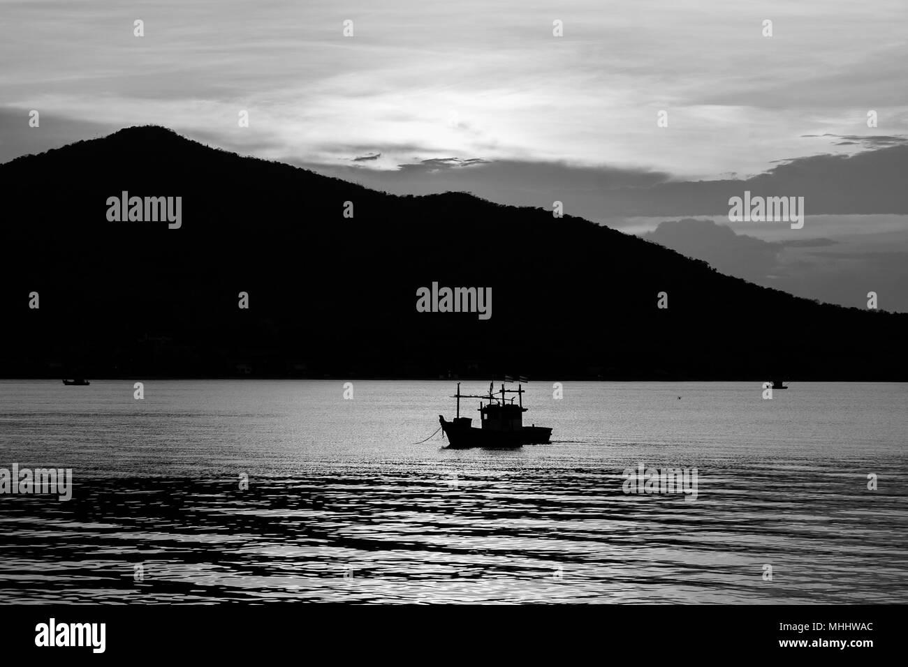 Abstract Immagine In Bianco E Nero Bella Seascape Vista Di