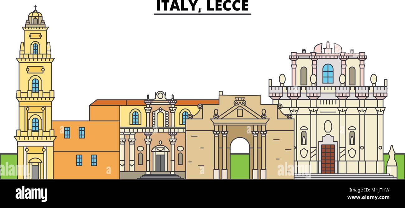 Architetti Famosi Lecce l'italia, lecce. lo skyline della citta', architettura