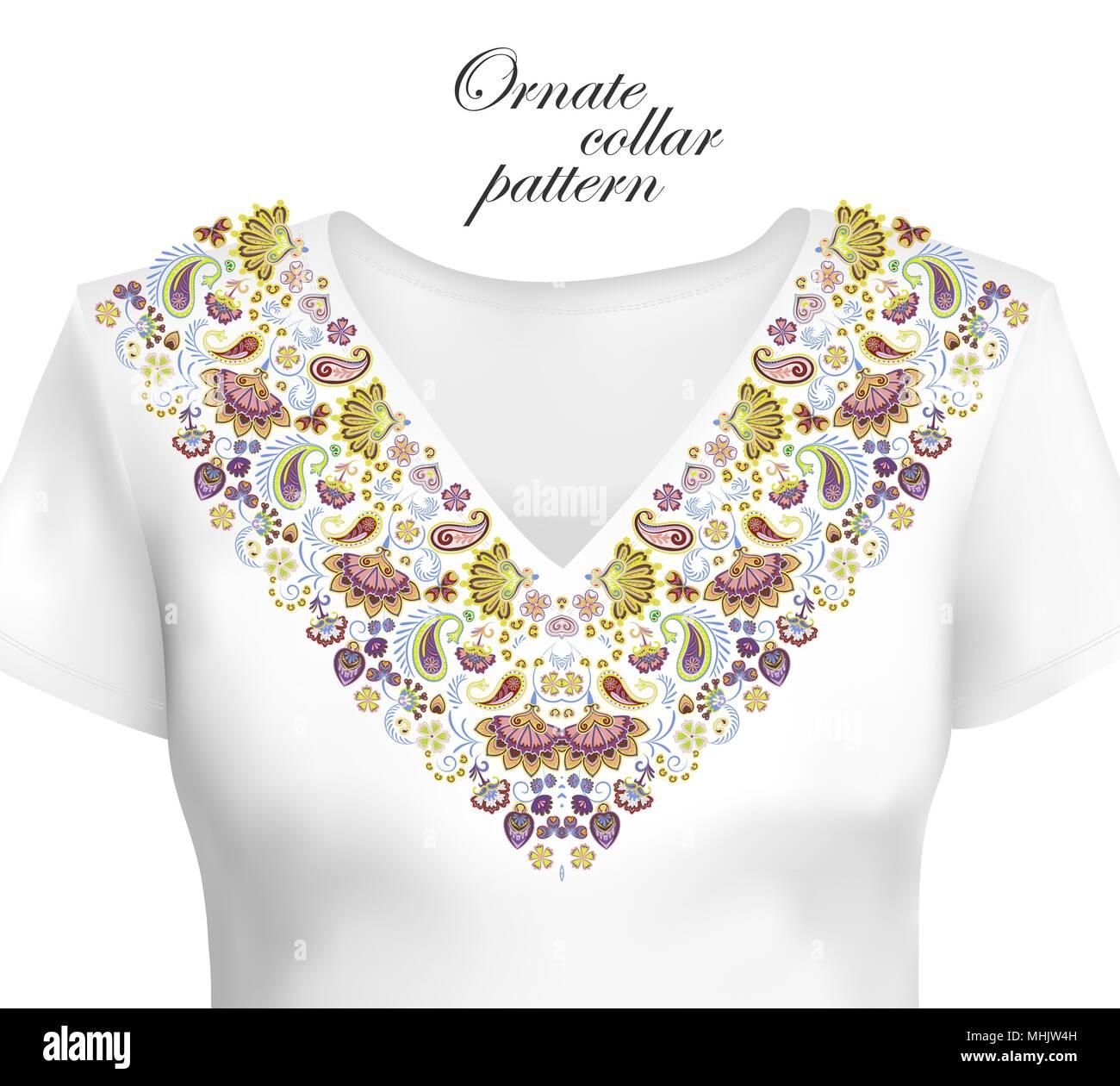 low priced 0d555 552a6 Oriental ornamento con paisley e fantasia fiori. Il design ...