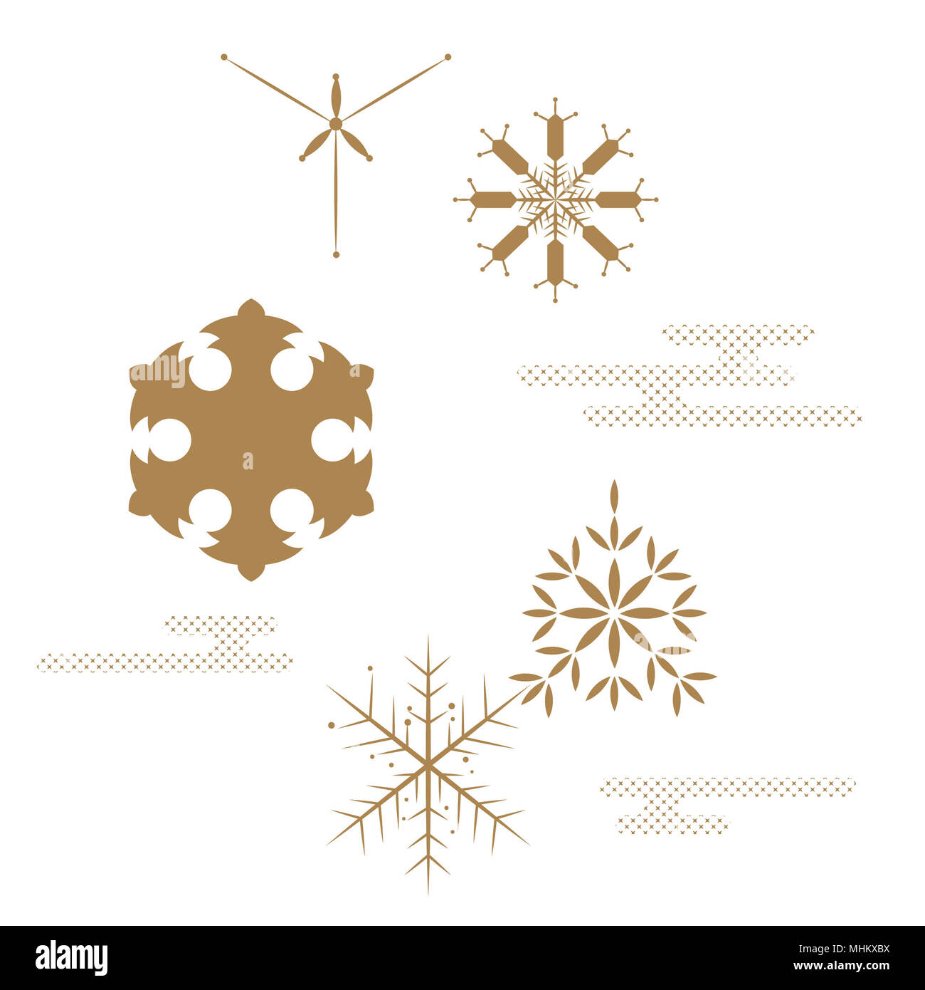 Elementi Di Fiocco Di Neve Per Il Vettore Di Decorazione In Stile