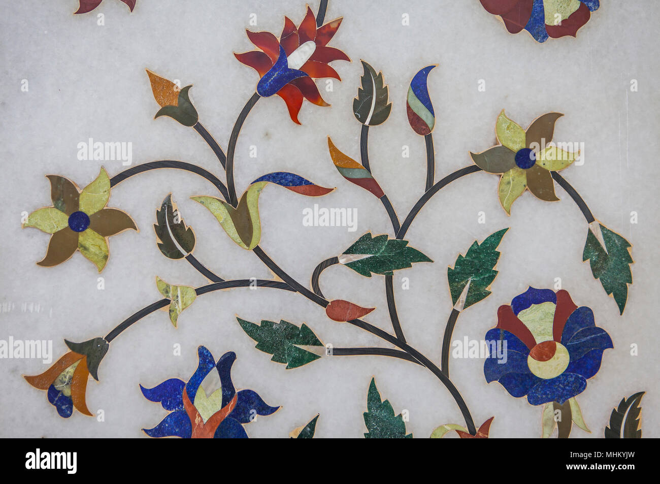 Pareti Doro : Dettaglio ornamento nelle pareti del tempio doro amritsar punjab