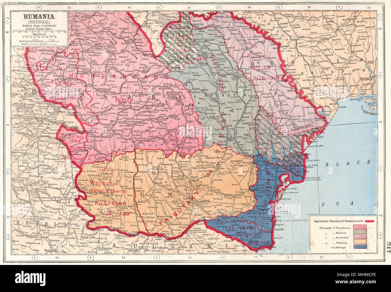Cartina Geografica Romania Transilvania.La Romania Storica Transilvania Bessarabia Valacchia Moldavia Dobrudja 1920 Mappa Foto Stock Alamy