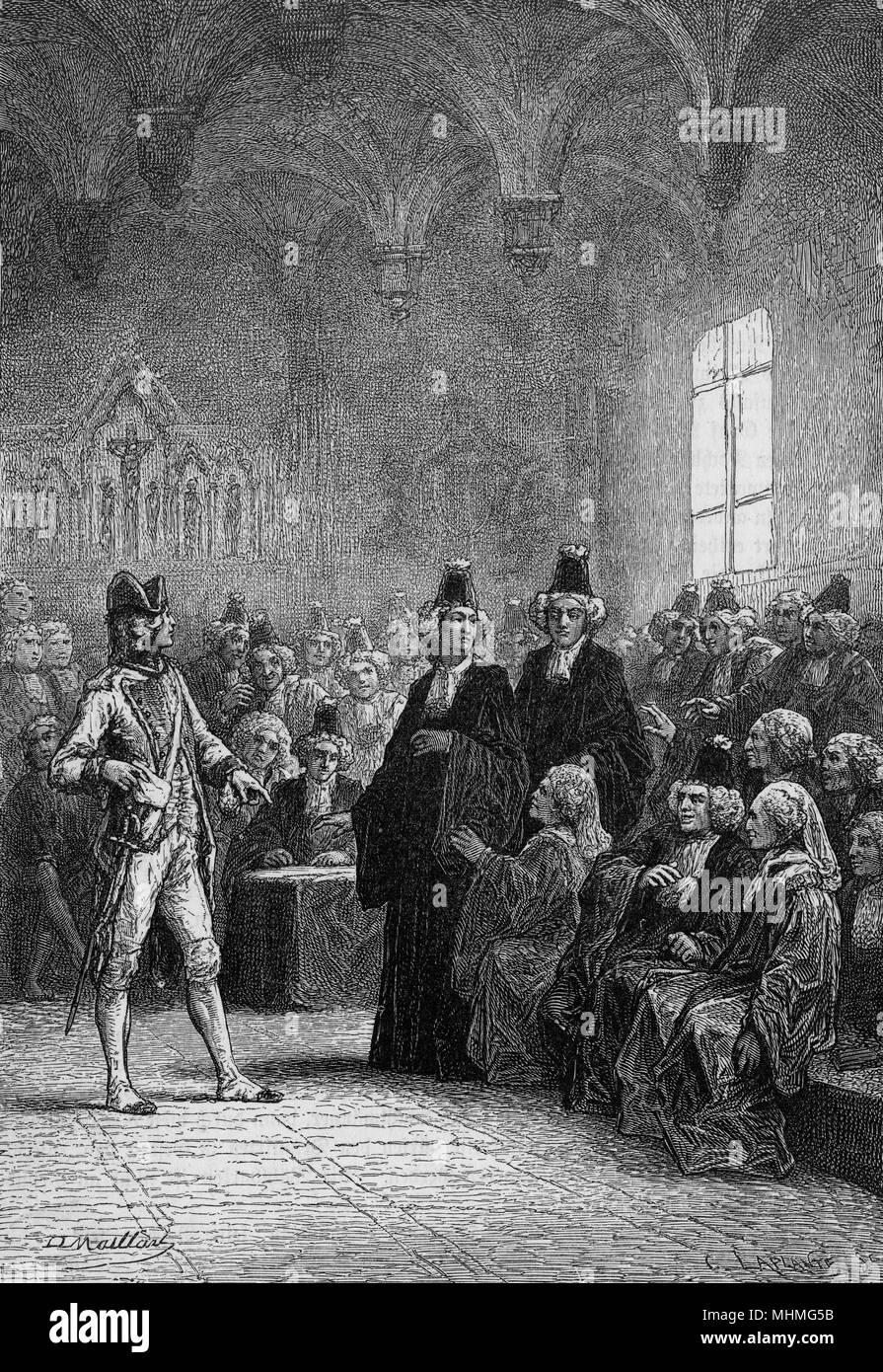 L'apertura degli stati, Versailles durante la Rivoluzione Francese Data: 5  maggio 1789 Foto stock - Alamy