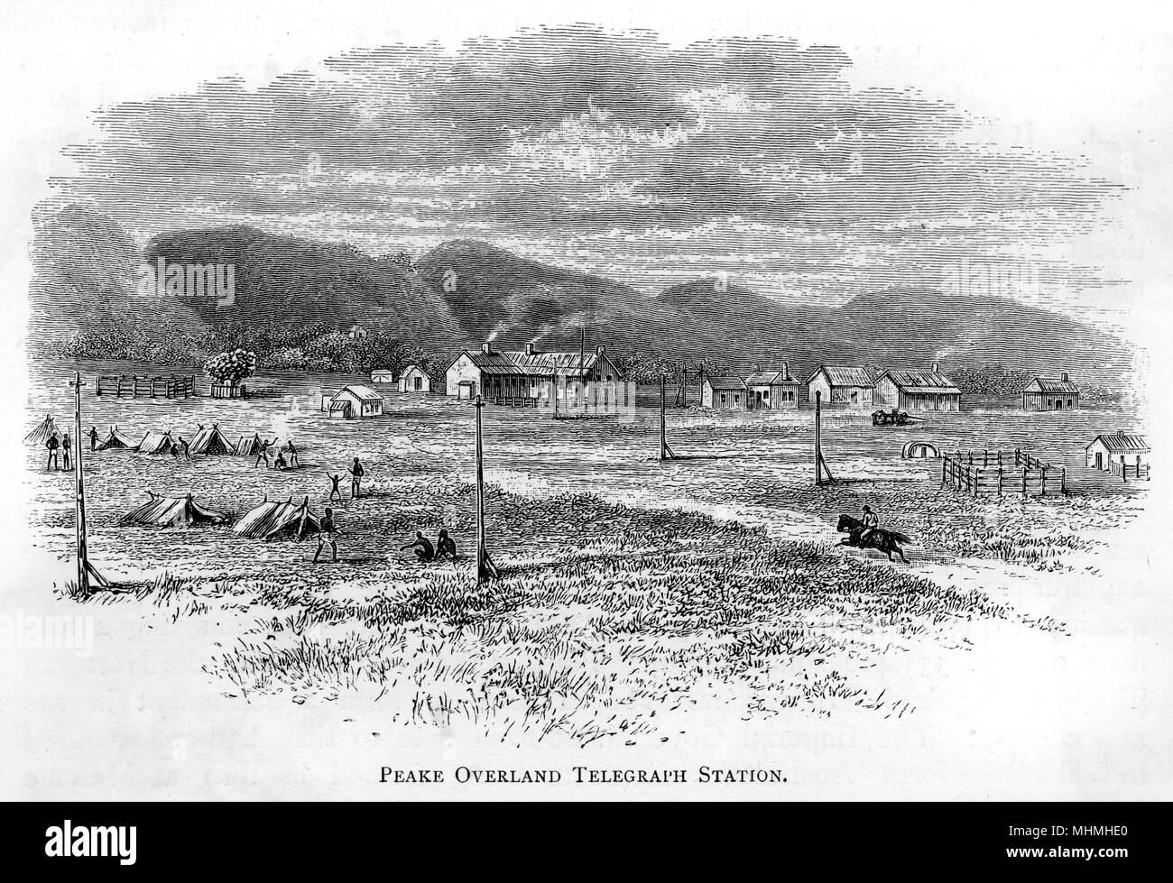 Peake Overland Telegraph Station, Australia. Data: Circa 1870 Immagini Stock