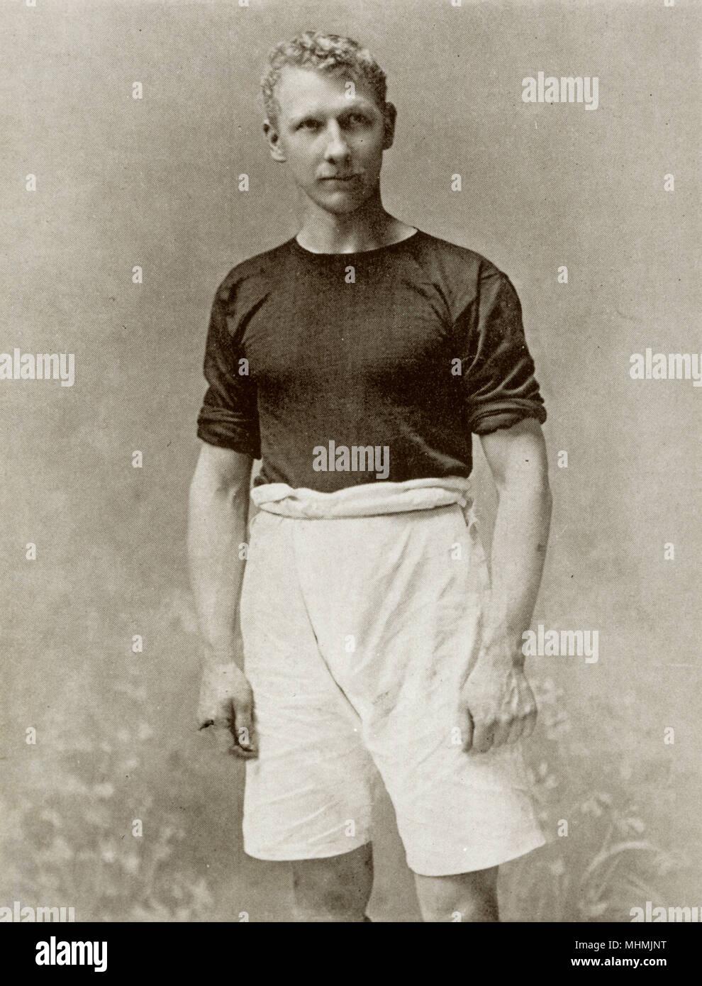 J. Jackson, che ha suonato per il West Ham United. Data: circa 1905 Immagini Stock